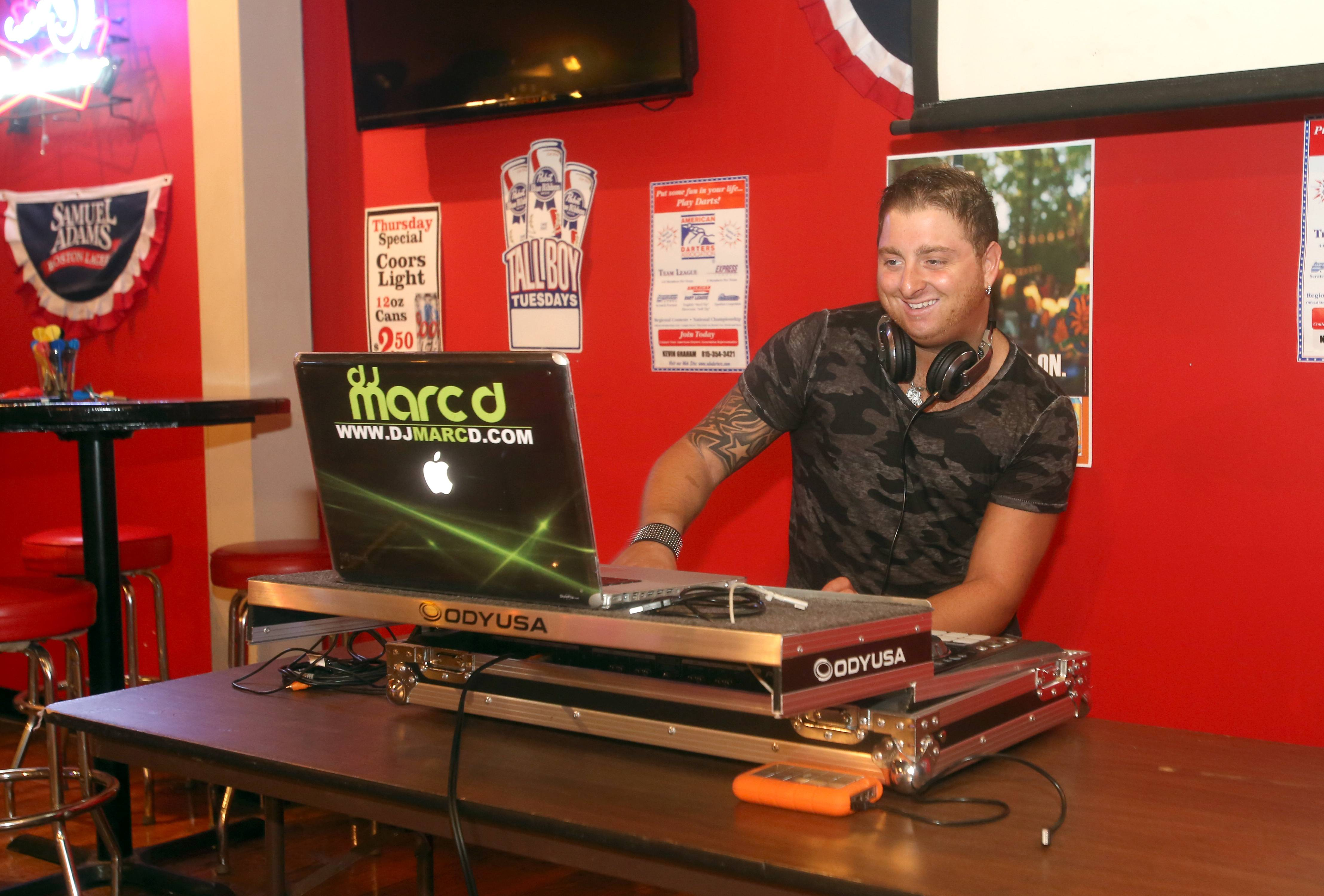 DJ Marc D. provides entertainment at Gnarly J's in Downers Grove.