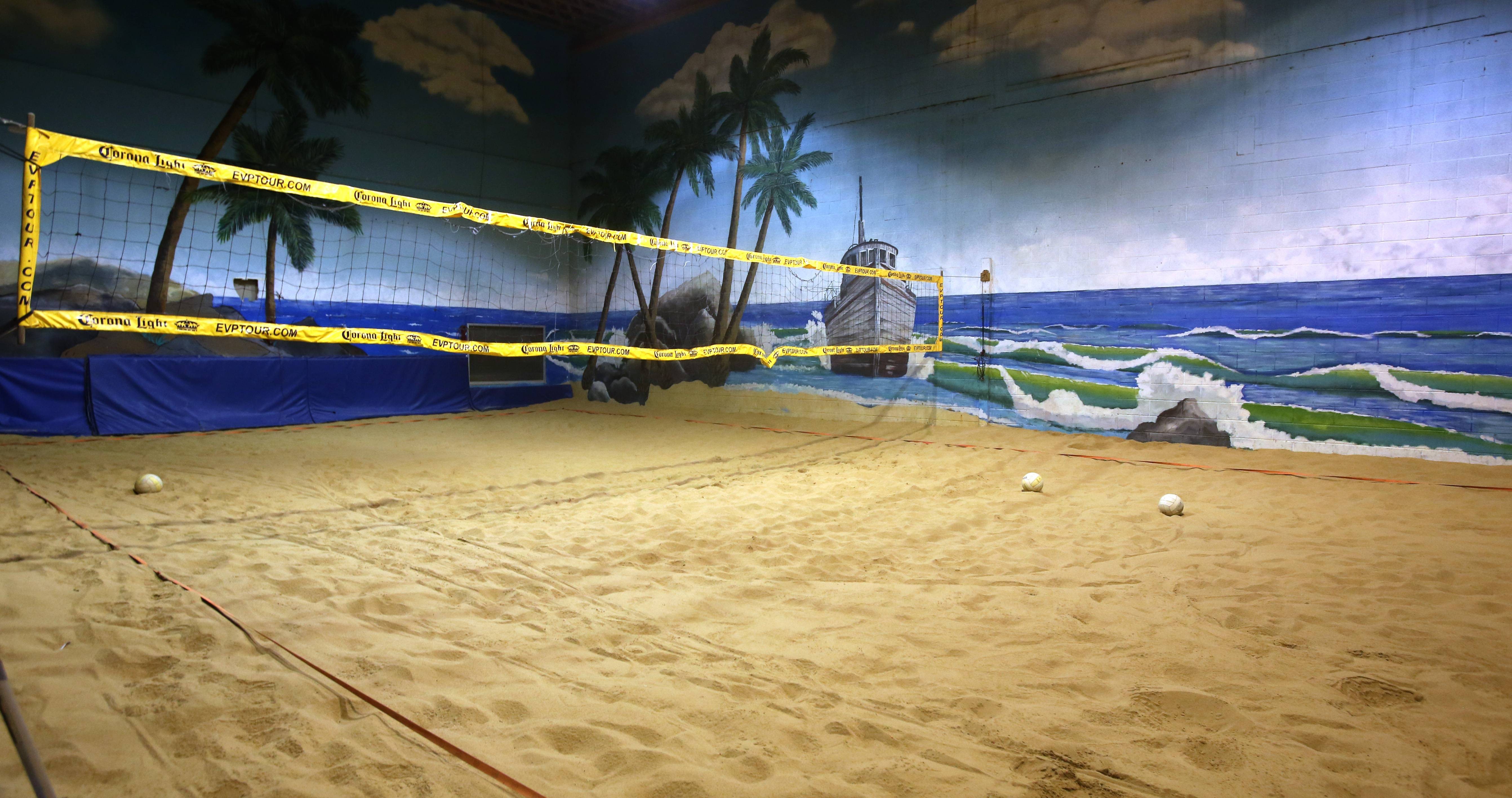 Indoor volleyball is an option at Gnarly J's in Downers Grove.