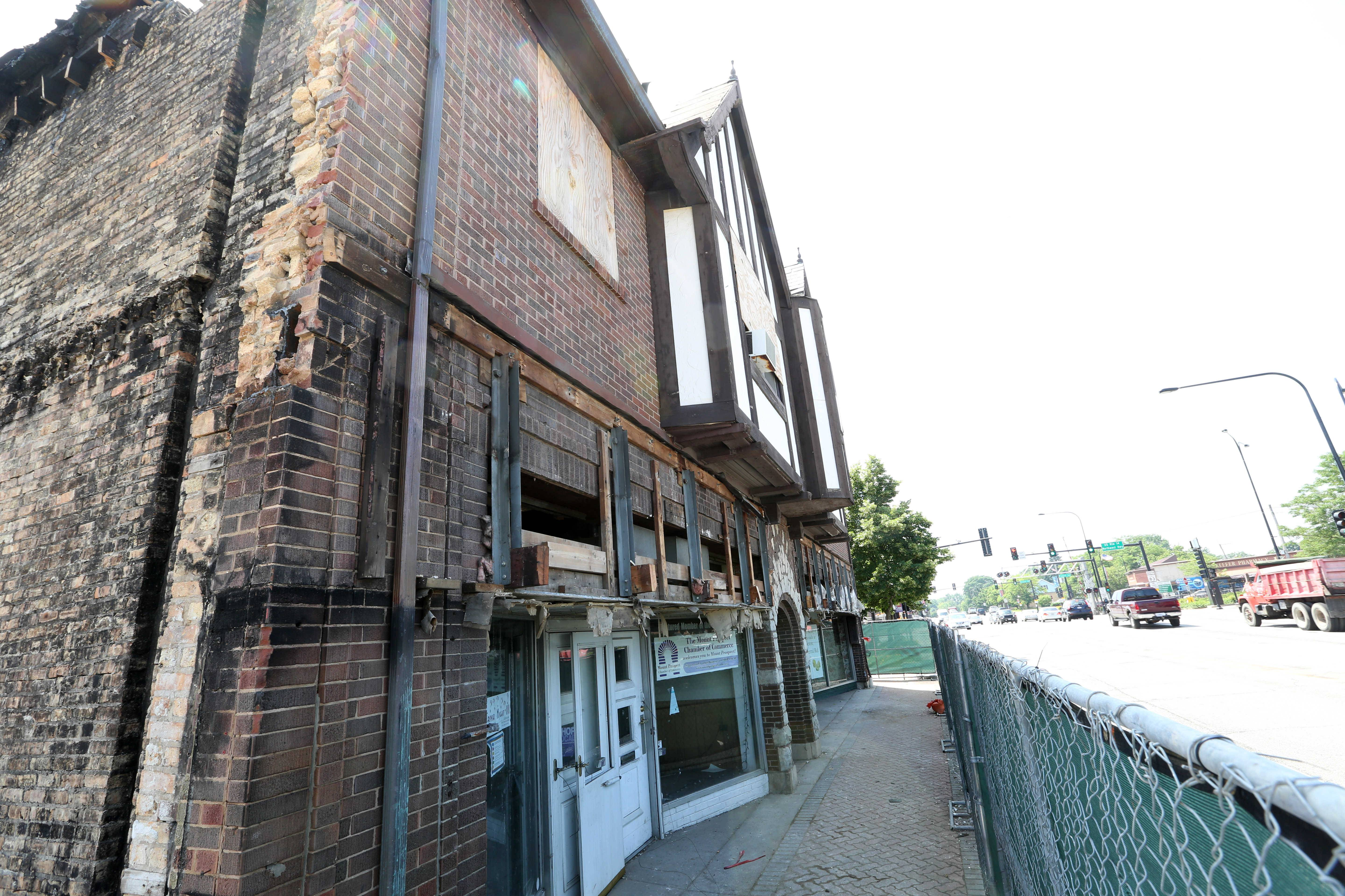Demolition of the historic Busse building in Mount Prospect will take about a month.