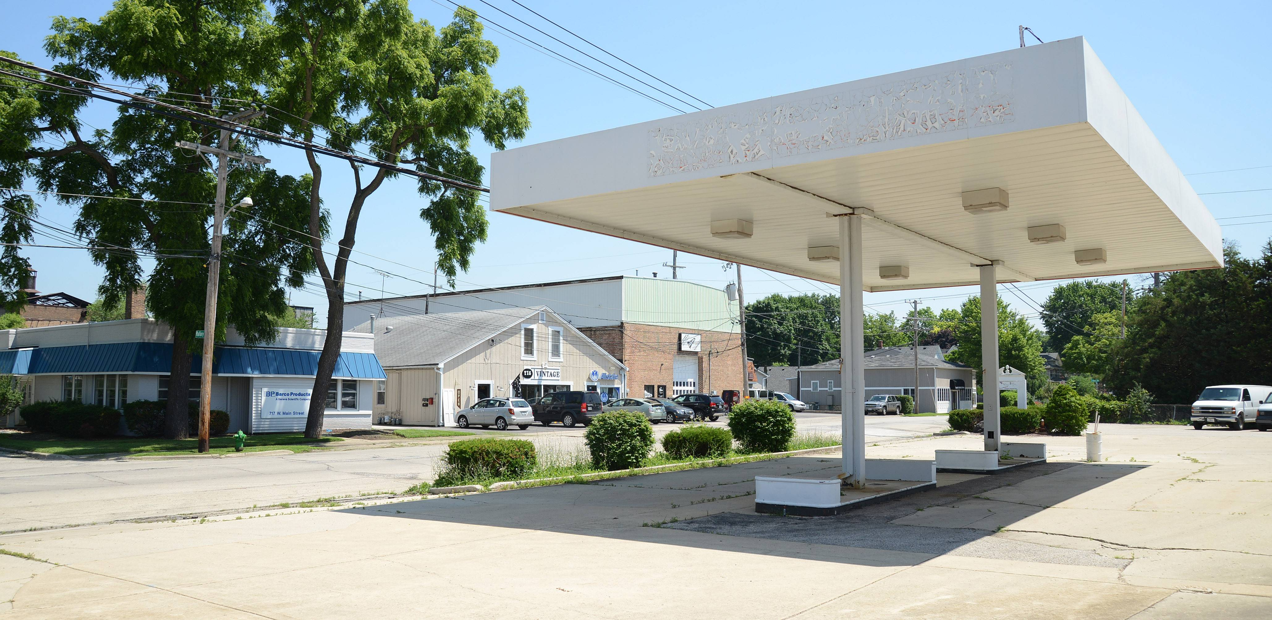 A former gasoline station, which has recently be used for storage, is in a neighborhood along West Main Street in Batavia that city officials believe could be revitalized with the help of tax-increment financing.