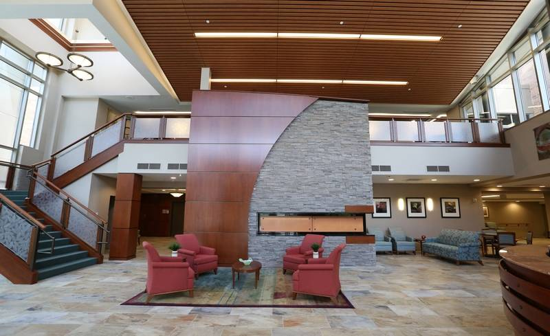 The Main Lobby Of Lutheran Homes New MyRehab Center Which Opens Wednesday In Arlington Heights