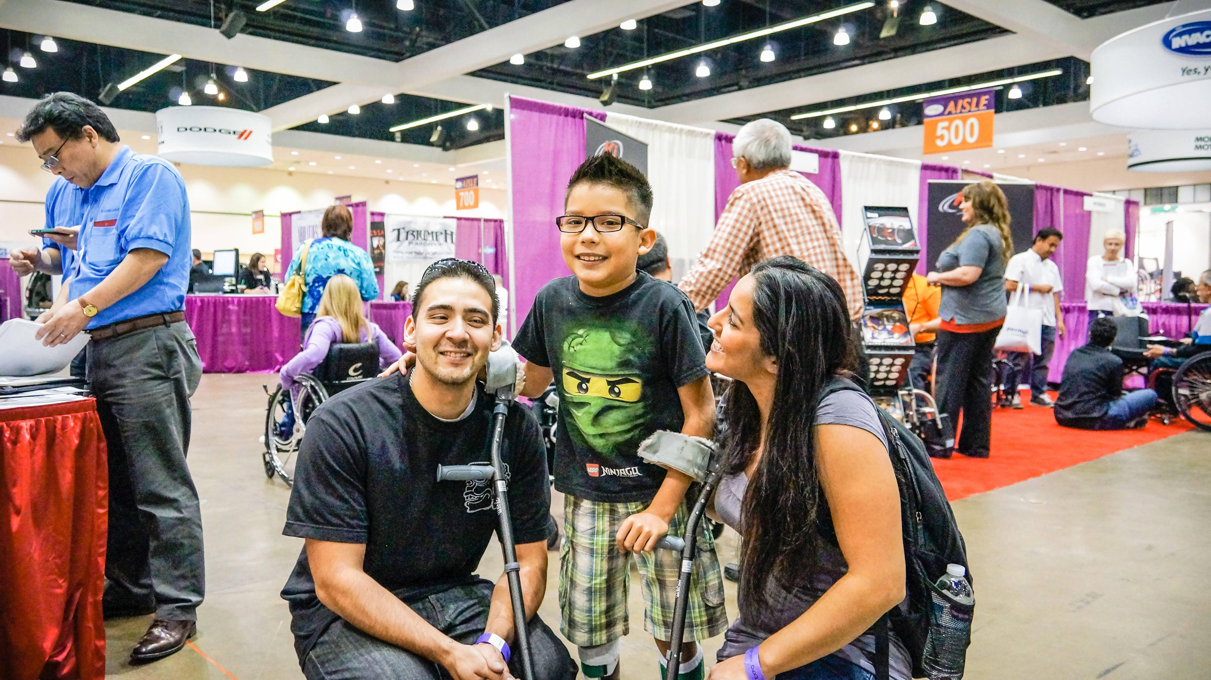 Alexzander Prado and his family visit Abilities Expo each year to find the latest products and services.