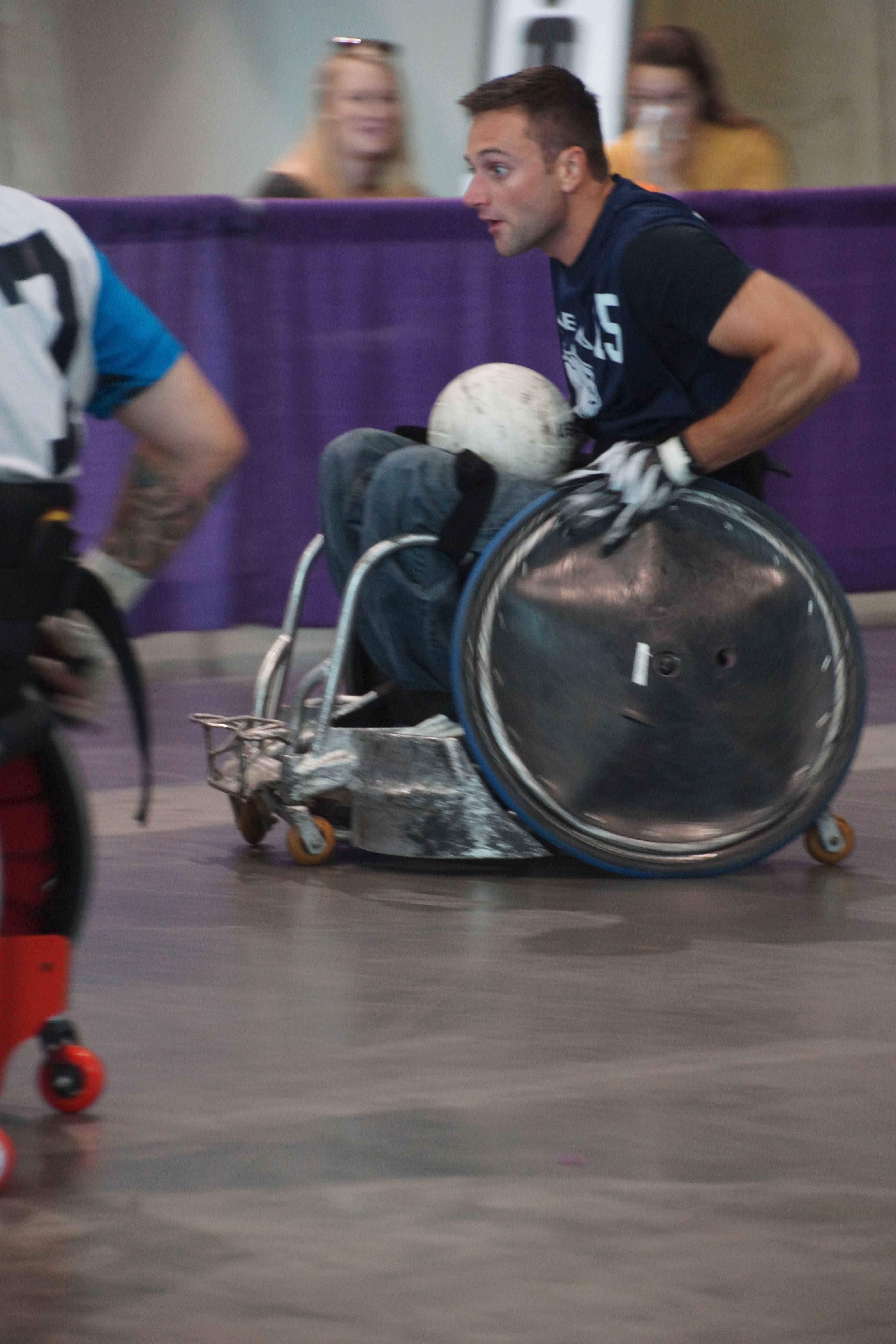 Attendees push their limits in quad rugby and other exciting adaptive sports at Abilities Expo.