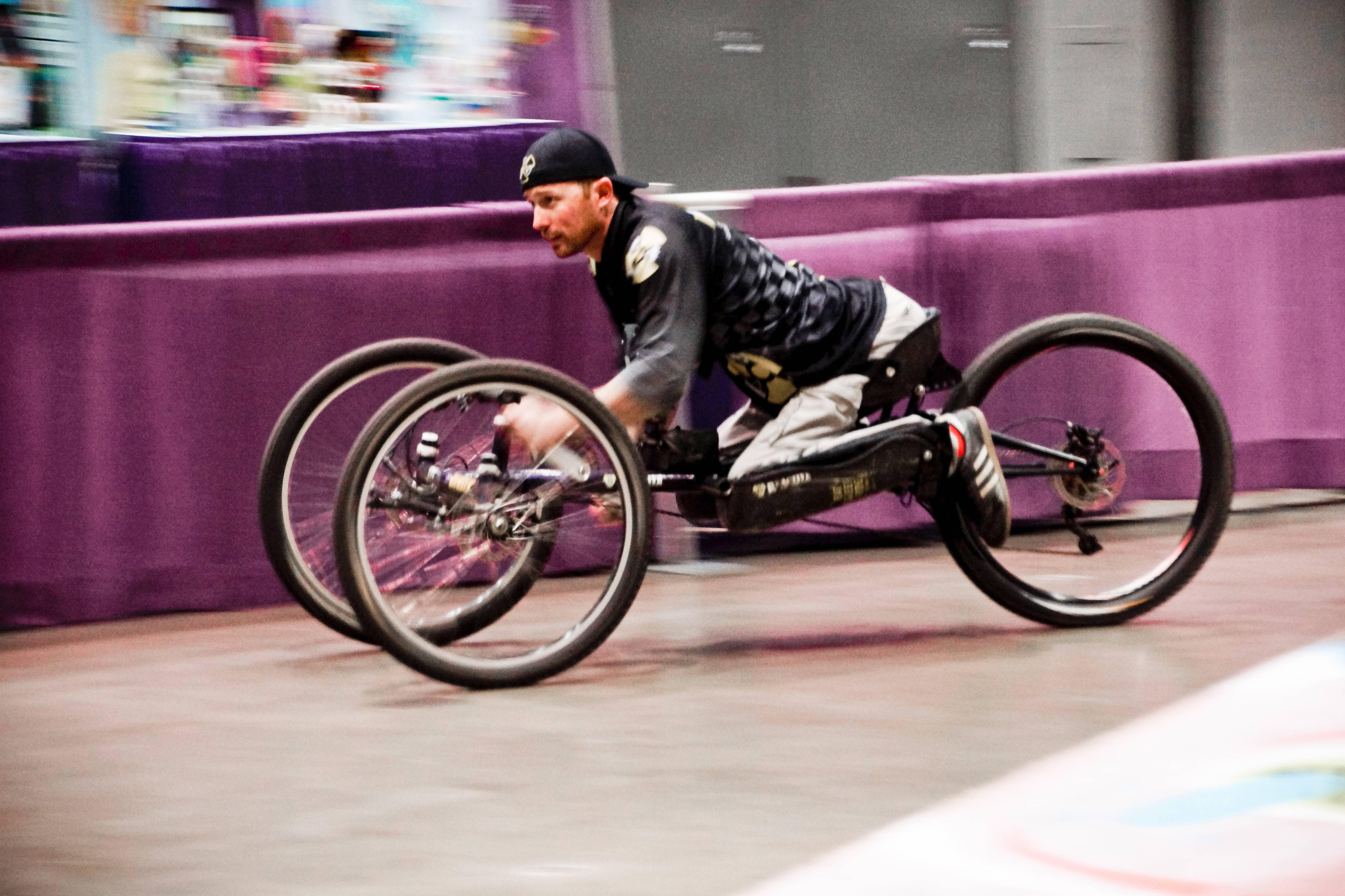 Do you feel the need for speed? Abilities Expo vendors offer a wide range of products for the community of people with disabilities, including handcycles.