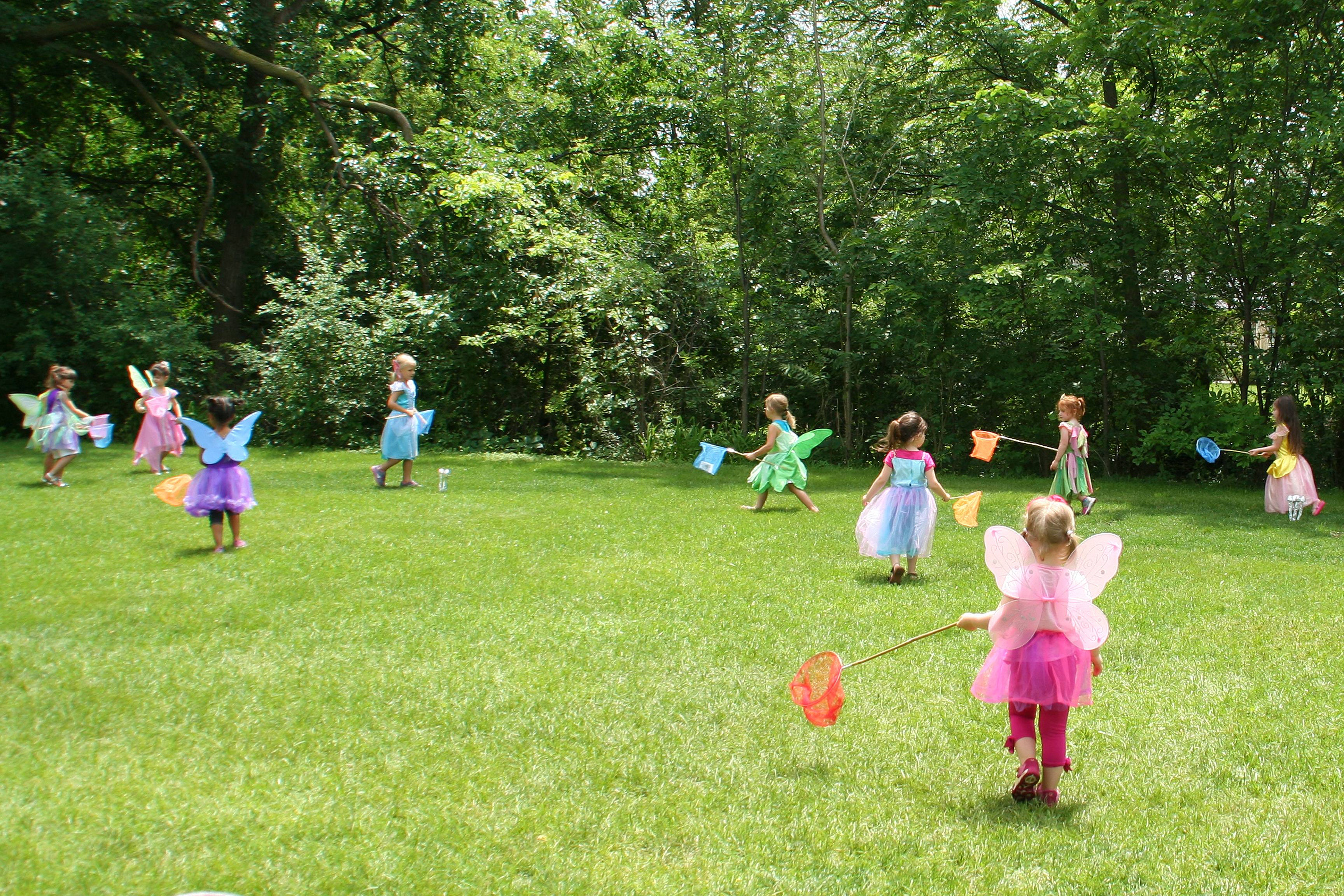 Sprites and fairies searched the Cumberland Terrace woods for paper pixies at the June 21 Fairy Fest.Lisa Haring