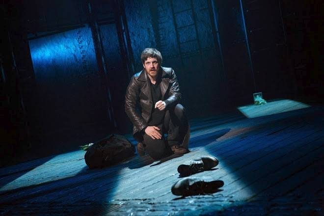 "Gideon (Michael Esper) confronts unresolved issues with his late father in the Broadway-bound musical ""The Last Ship."" The show, with music and lyrics by Sting and a book by John Logan and Brian Yorkey, launched in Chicago on Wednesday."