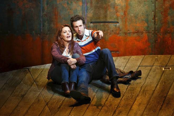 "Arthur (Aaron Lazar) promises to love and cherish his beloved Meg (Rachel Tucker) in ""The Last Ship,"" a new musical by Sting (music and lyrics) inspired by his childhood in an English shipping town. Chicago's pre-Broadway run continues through July 13 at the Bank of America Theatre."