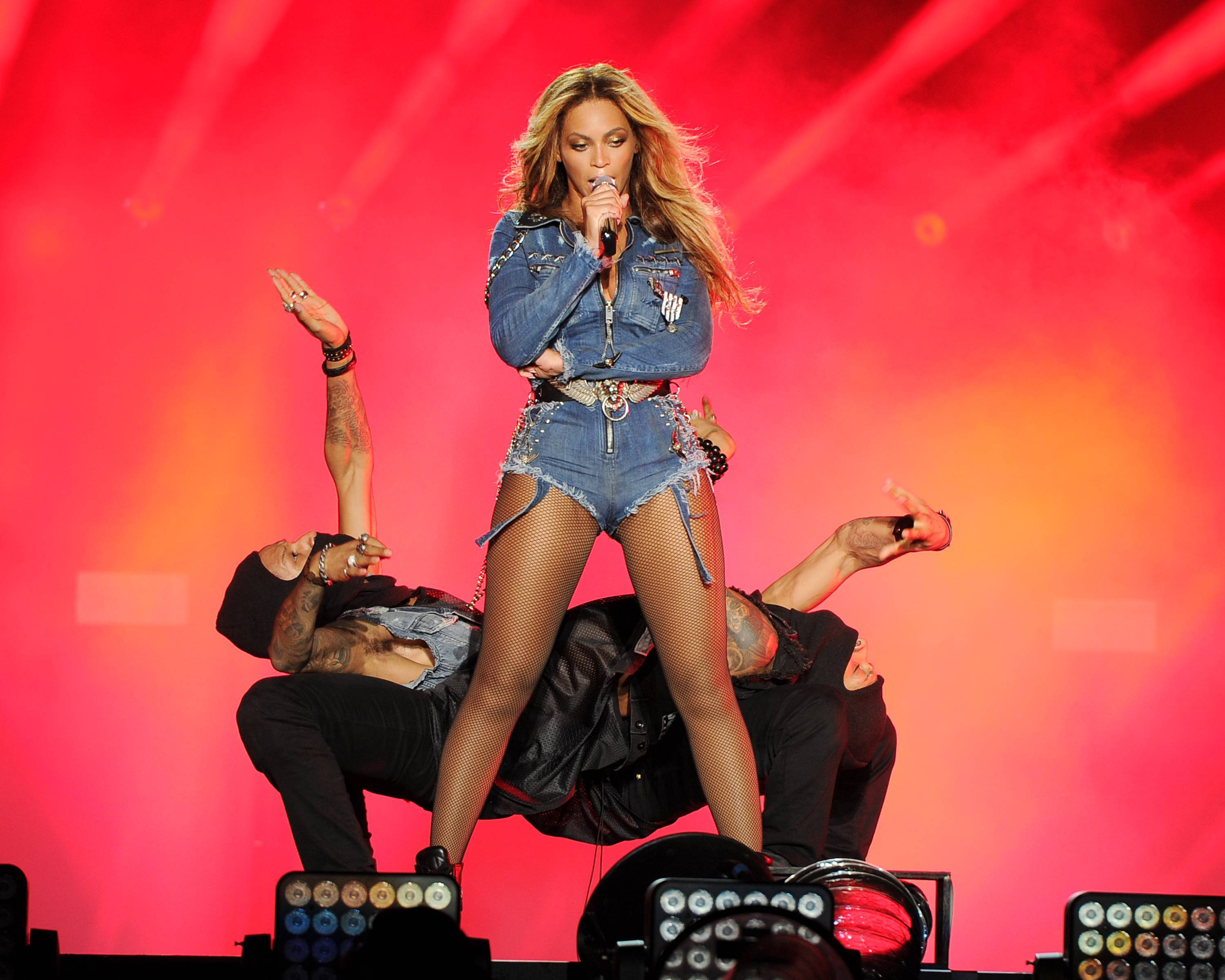 Beyonce performs on the opening night of the On The Run Tour at Sun Life Stadium on Wednesday in Miami, Florida.