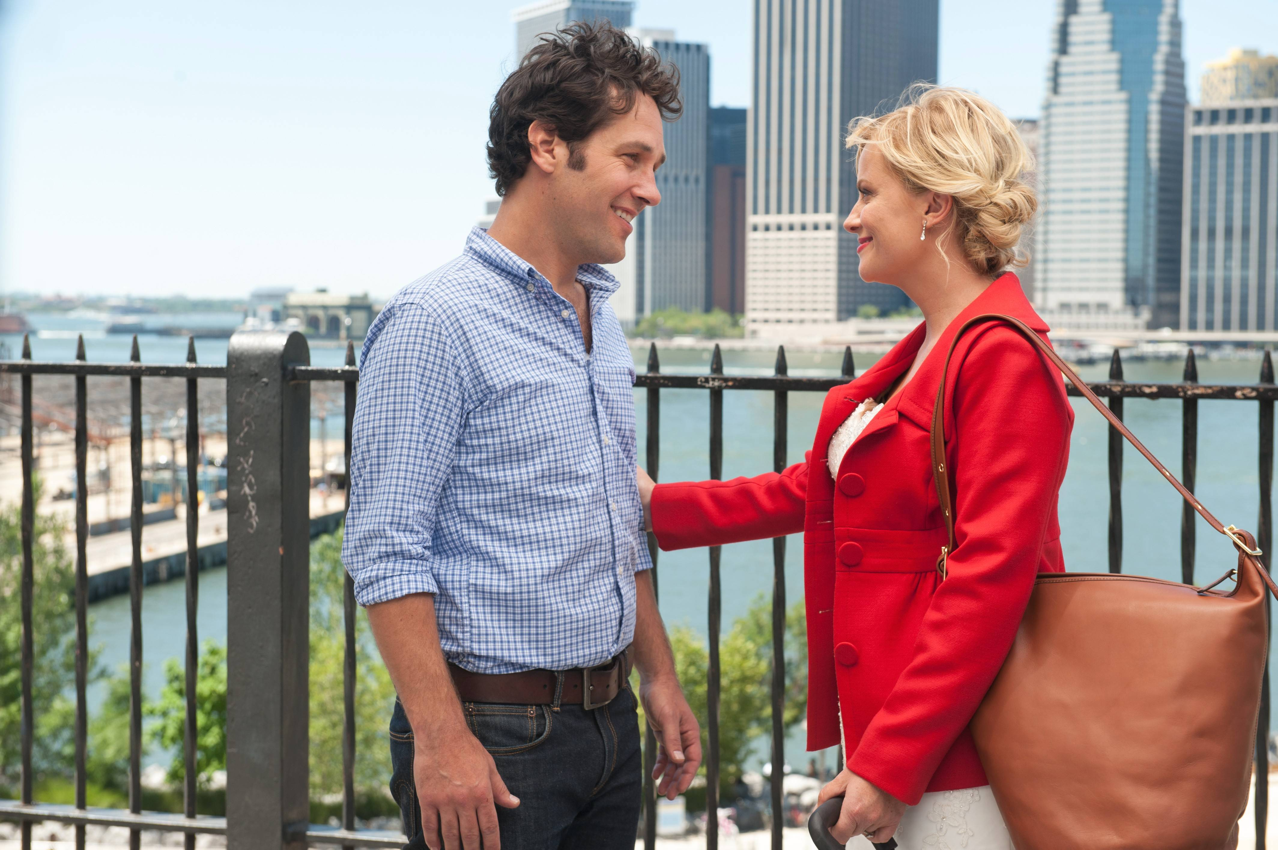 "Paul Rudd plays Joel, who falls for candy store owner Molly (Amy Poehler) in the romantic parody ""They Came Together."""