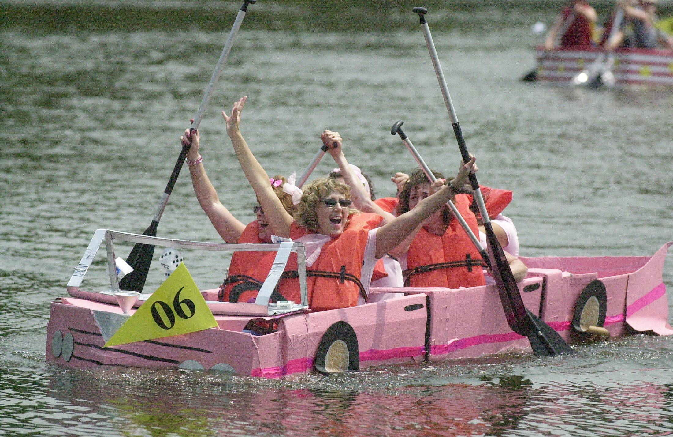 Glen Ellyn Park District's annual Cardboard Boat Regatta returns Saturday to Lake Ellyn.