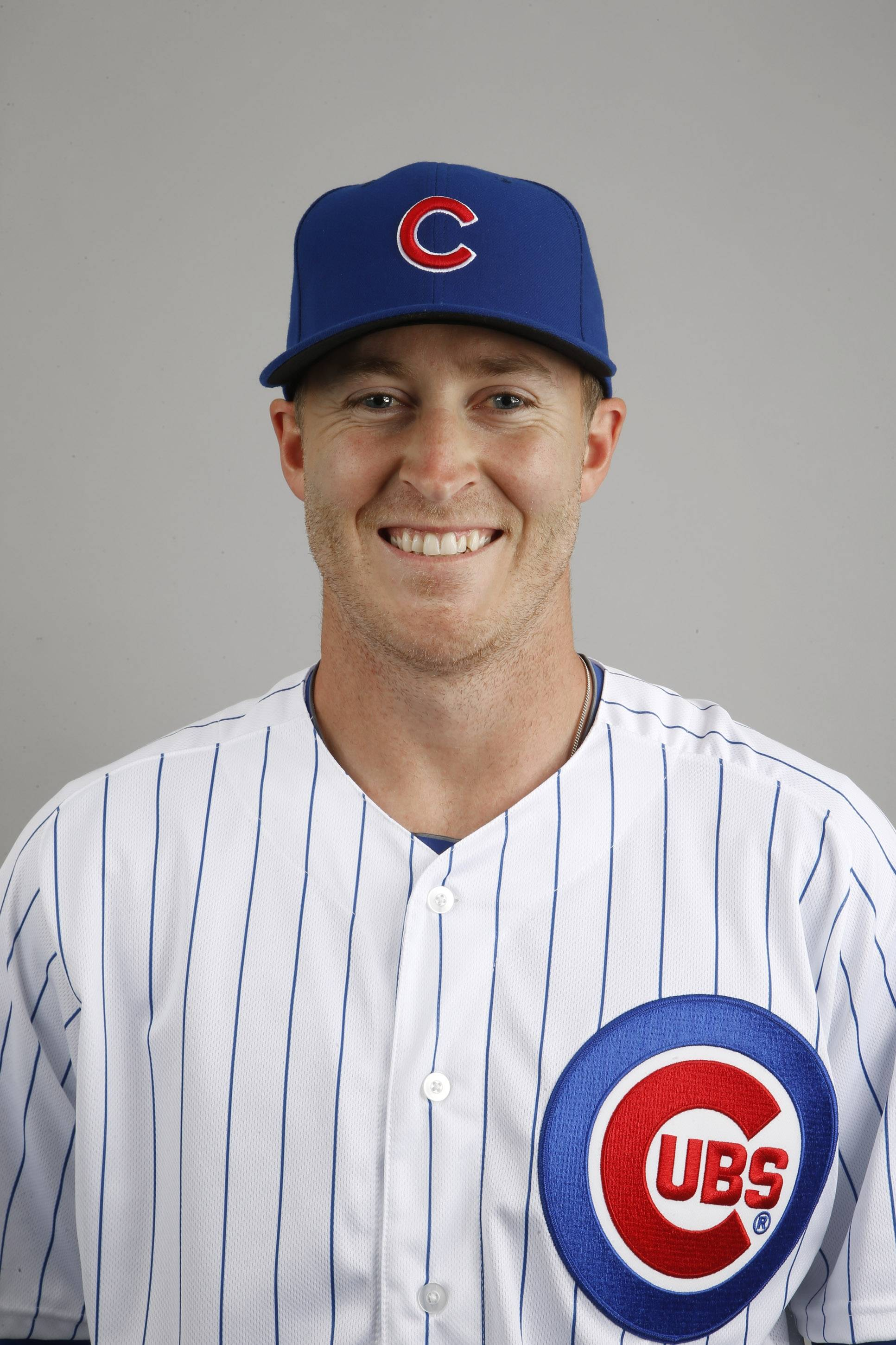 This is a 2014 photo of Dallas Beeler of the Chicago Cubs baseball team. This image reflects the Cubs active roster as of Monday, Feb. 24, 2014, when this image was taken. (AP Photo/Ross D. Franklin)