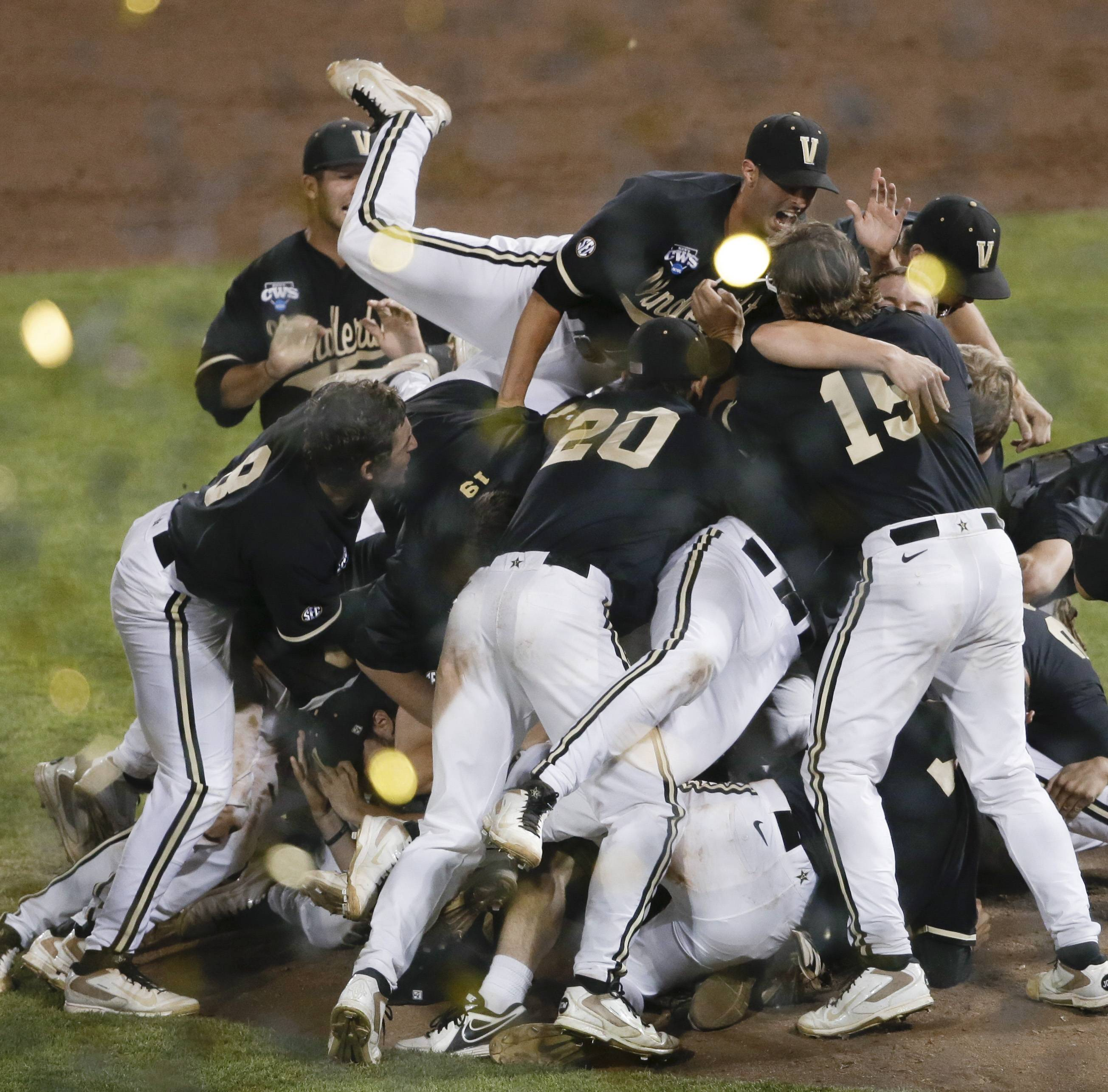 Vanderbilt won its first national championship in any sport Wednesday when its baseball team defeated defeated Virginia 3-2 in the deciding game of the College World Series.