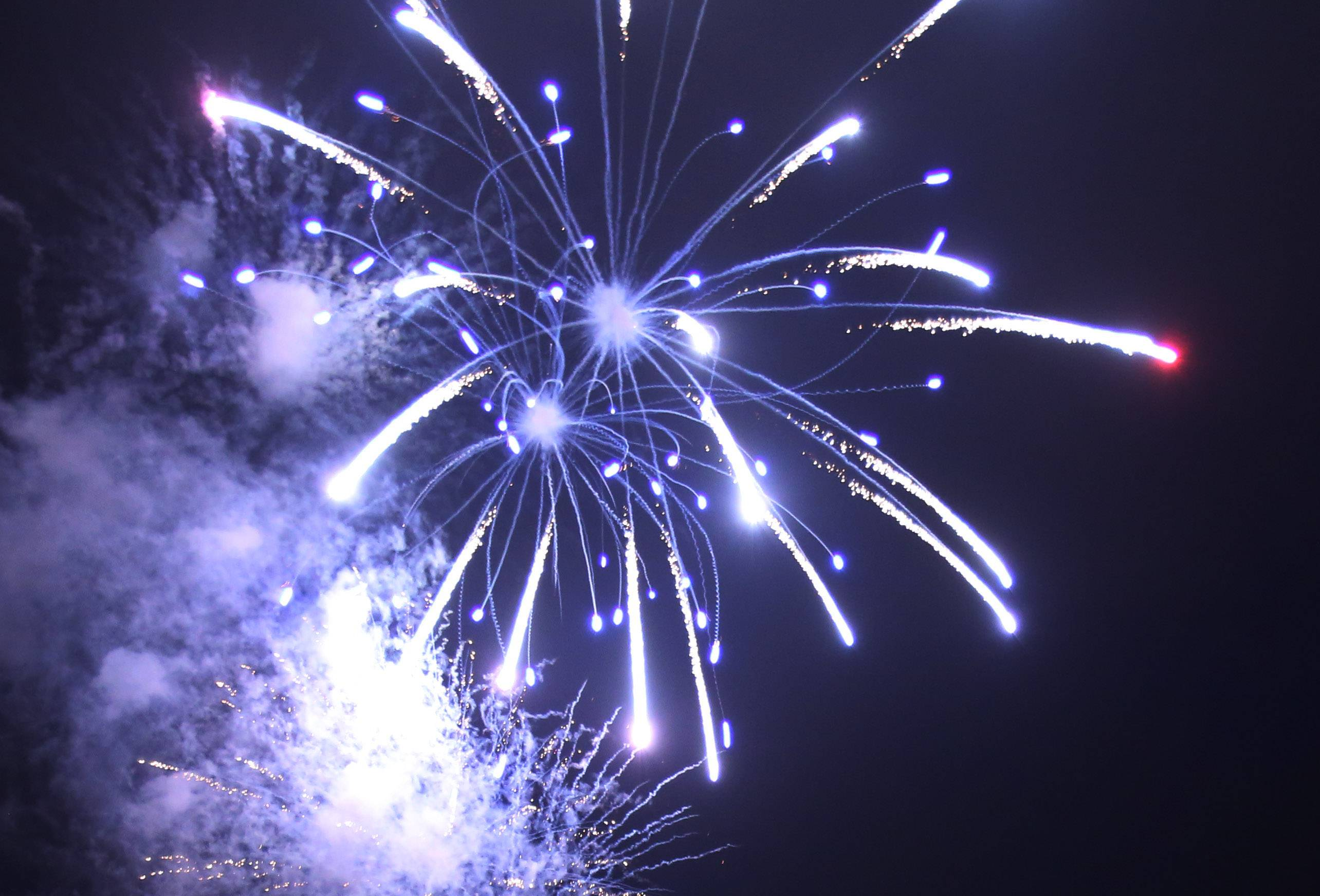 Fireworks light up the skies over Wauconda.