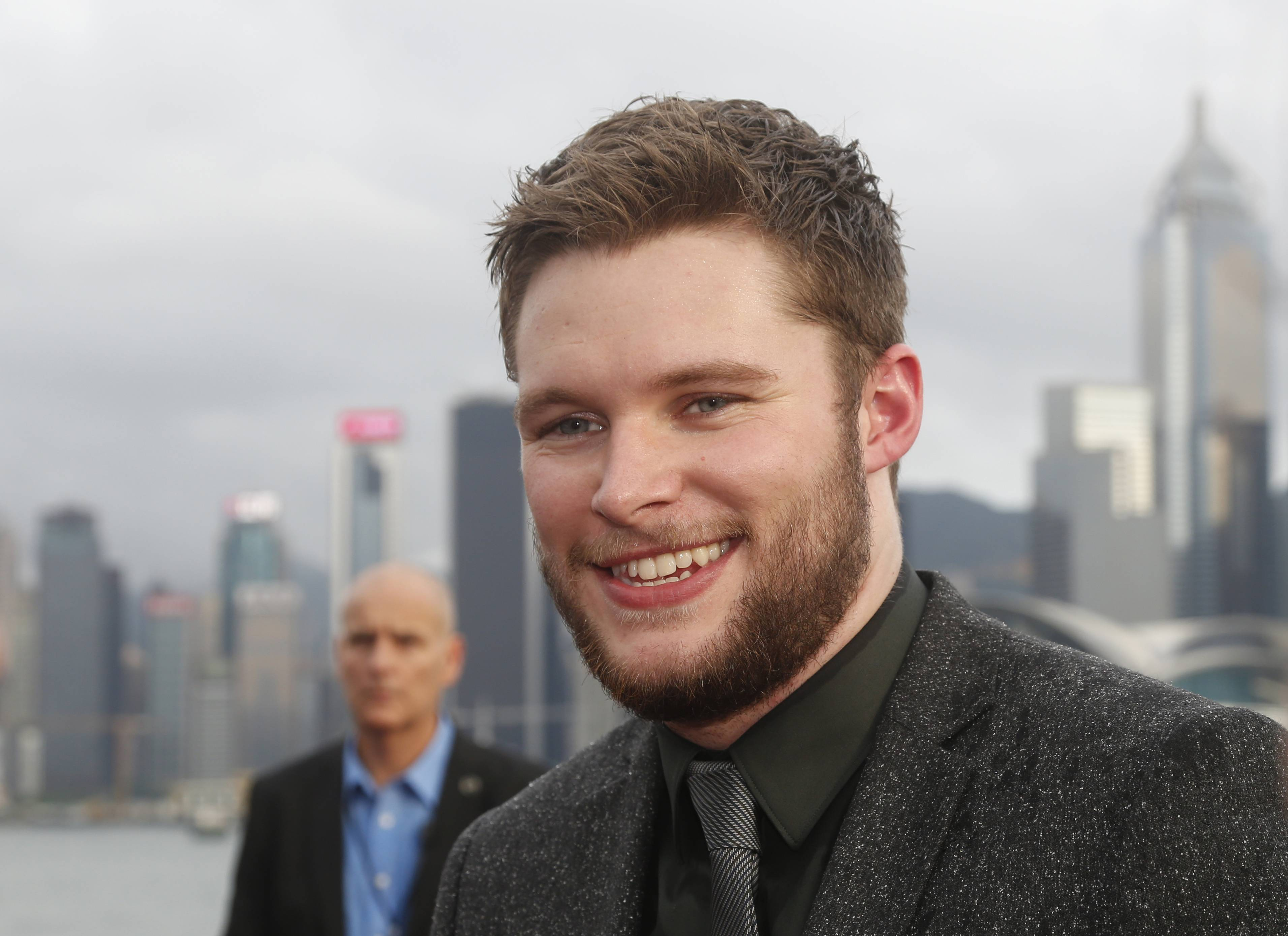 "American Actor Jack Reynor poses on the red carpet as he arrives for the world premiere of the movie ""Transformers 4: Age of Extinction"" in Hong Kong last week."