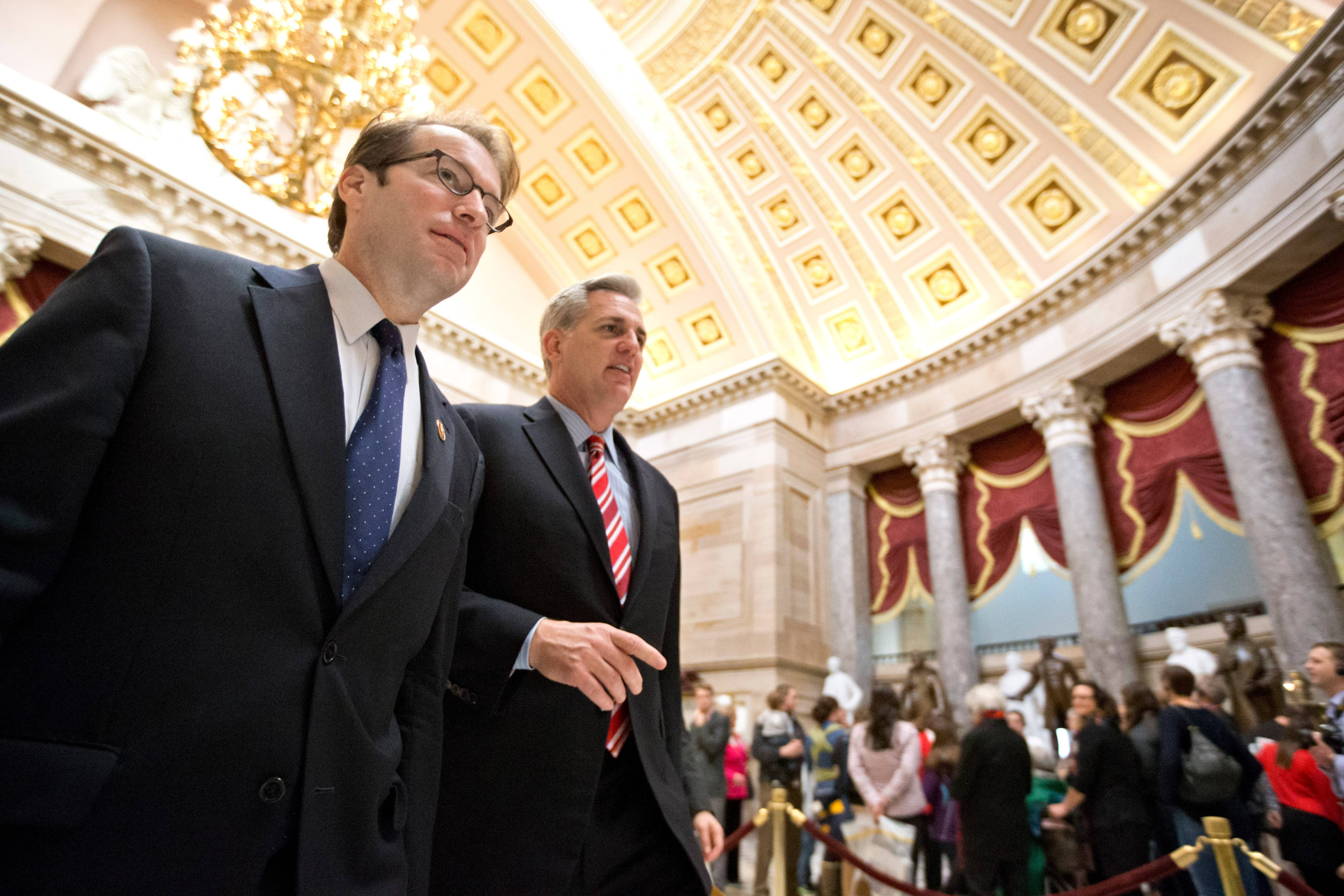 U.S. Rep. Peter Roskam, a Wheaton Republican, lost his bid to replace House Majority Whip Kevin McCarthy of California as the No. 3 Republican in the House.
