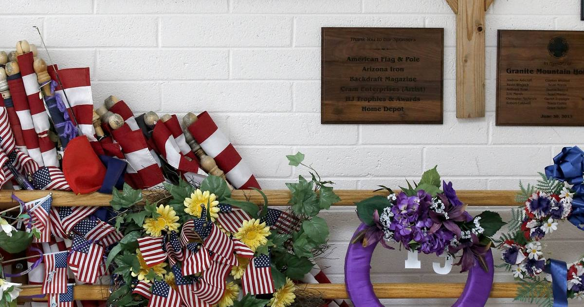 Images One Year Since 19 Firefighters Died In Arizona