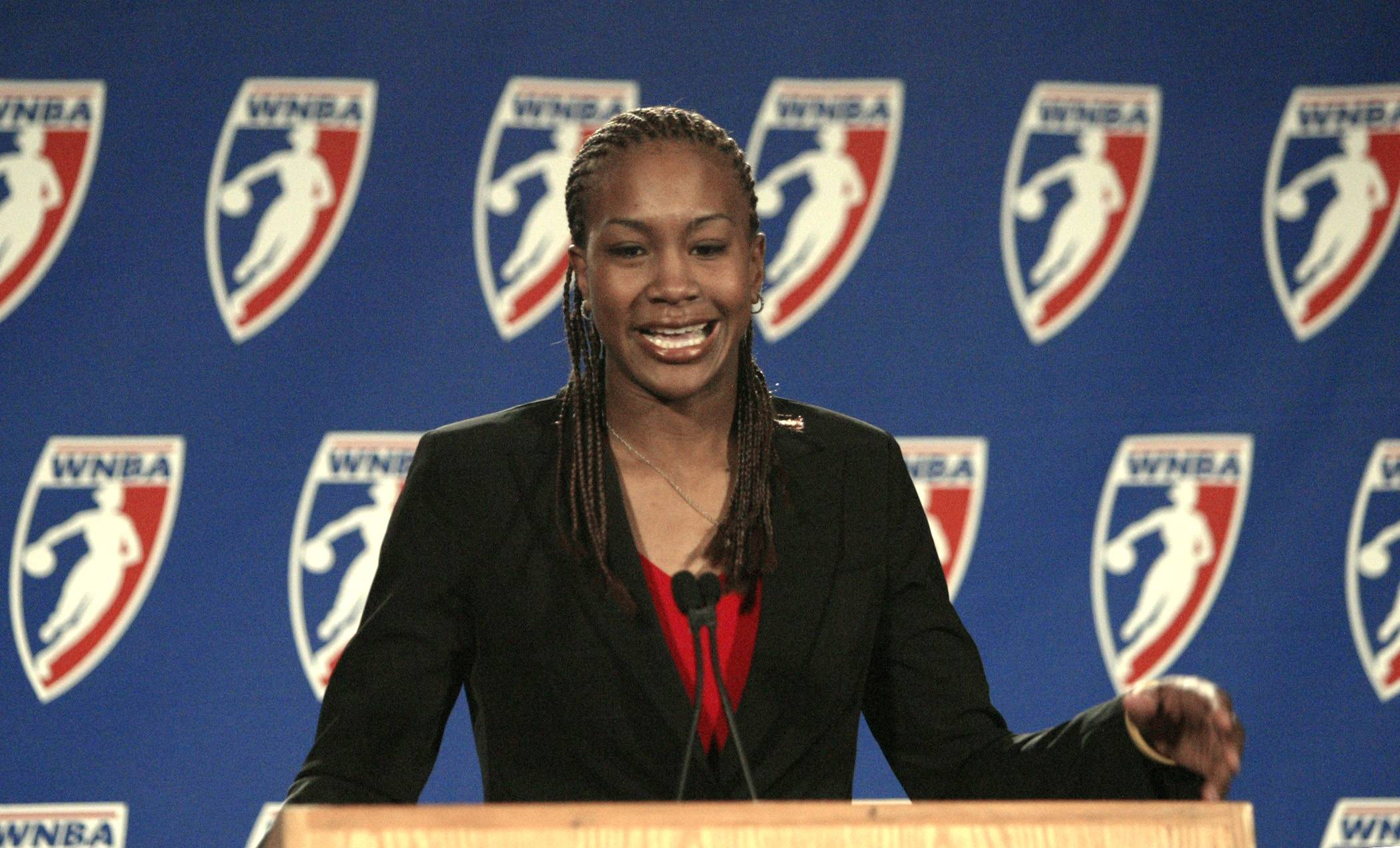 Tamika Catchings has not played for the Indiana Fever this season because of injuries.
