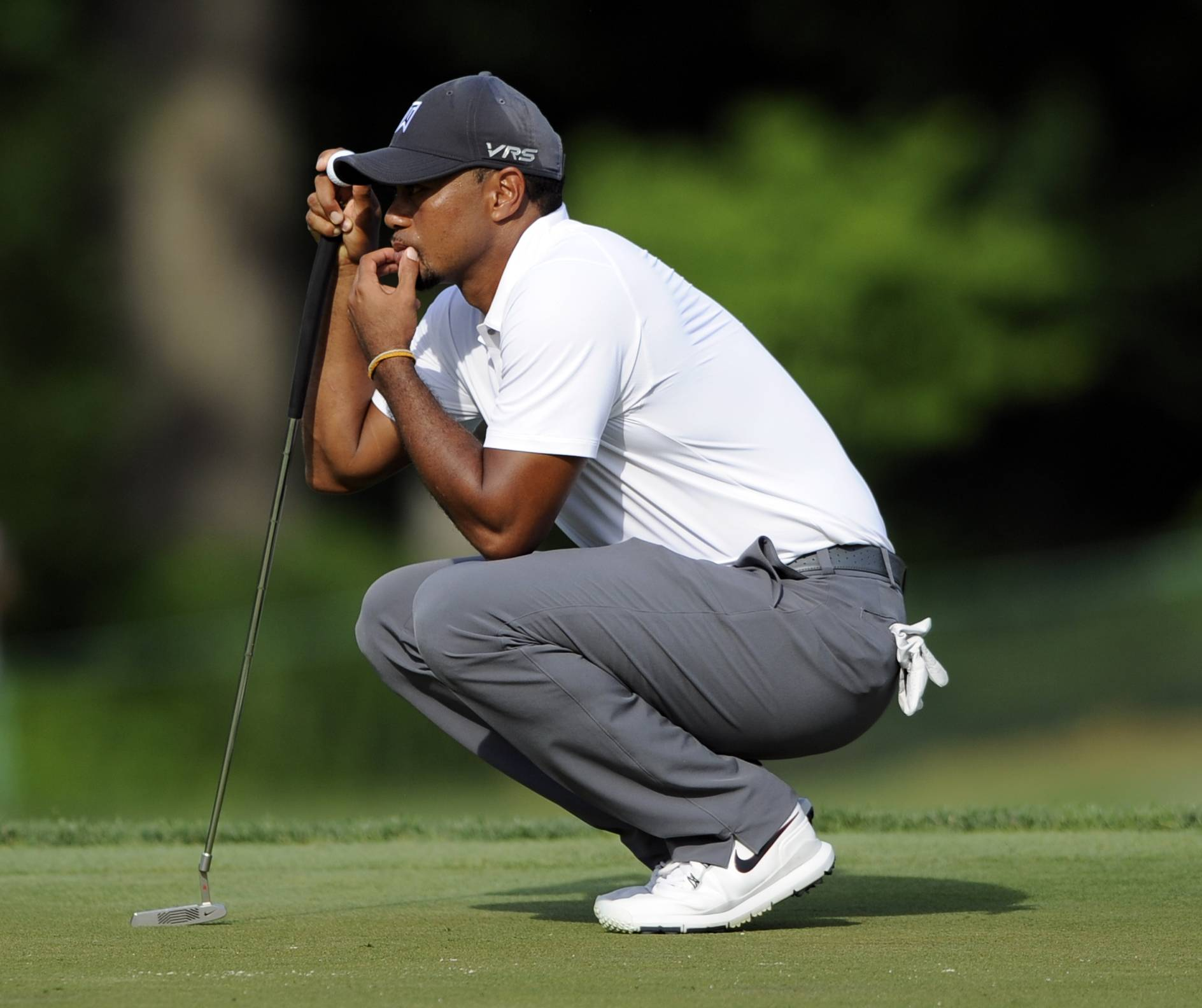 Tiger Woods didn't last more than 36 holes in his return to competition. Woods showed plenty of rust with his short game when he ran off four straight bogeys on the back nine Friday at Congressional to end any hopes of sticking around for the weekend at the Quicken Loans National.
