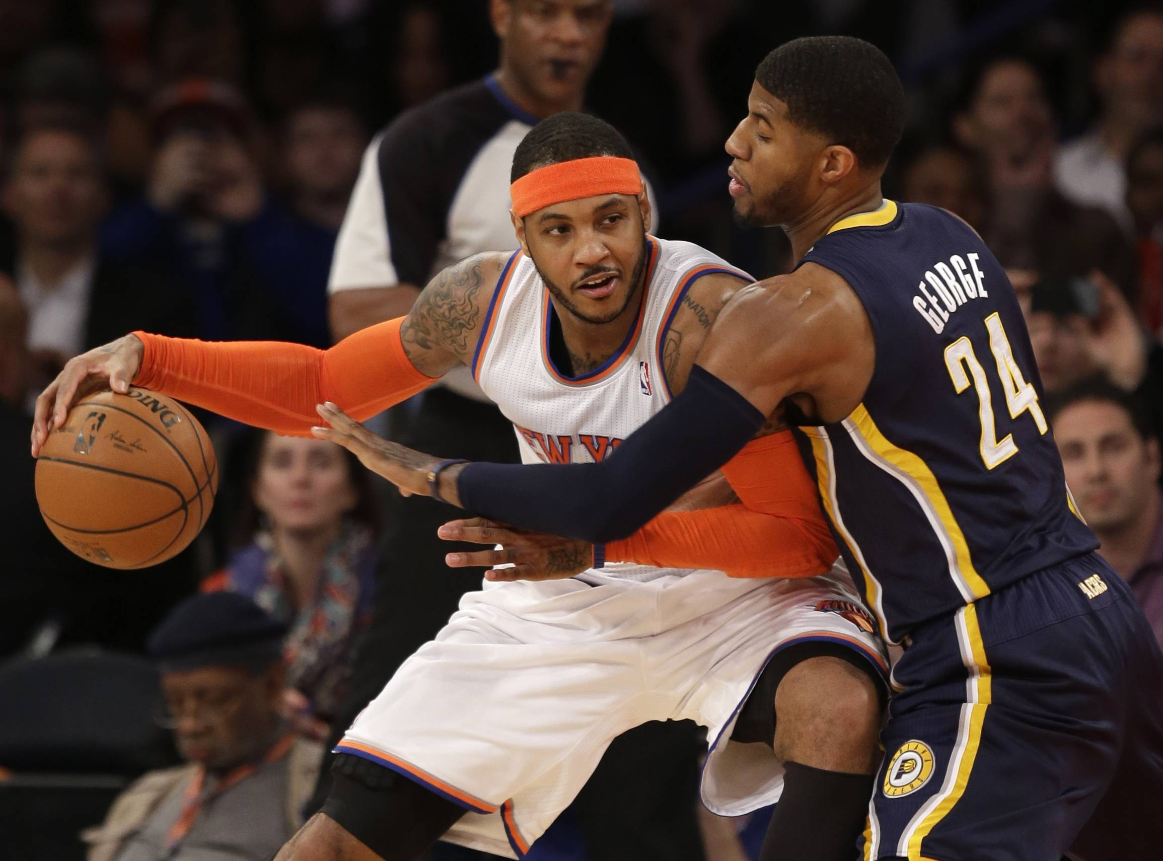 Carmelo Anthony figures to be wooed by Houston, Dallas, the Lakers, Miami and the Bulls as the NBA's free agency period gets underway Tuesday. Will he choose one of those teams or simply elect to stay in New York with Phil Jackson and the Knicks?