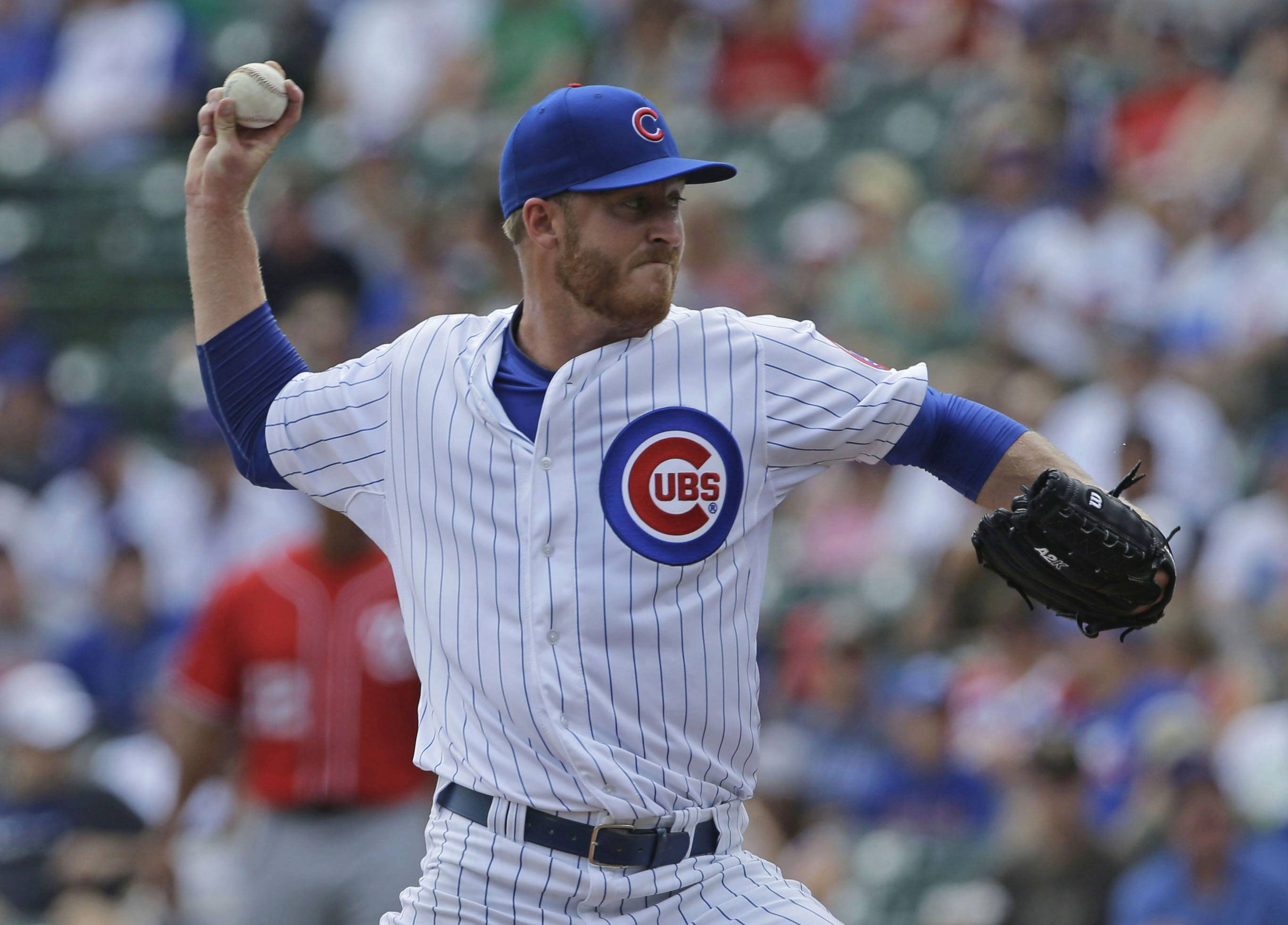 Dallas Beeler allowed no earned runs in his major-league debut Saturday at Wrigley Field.