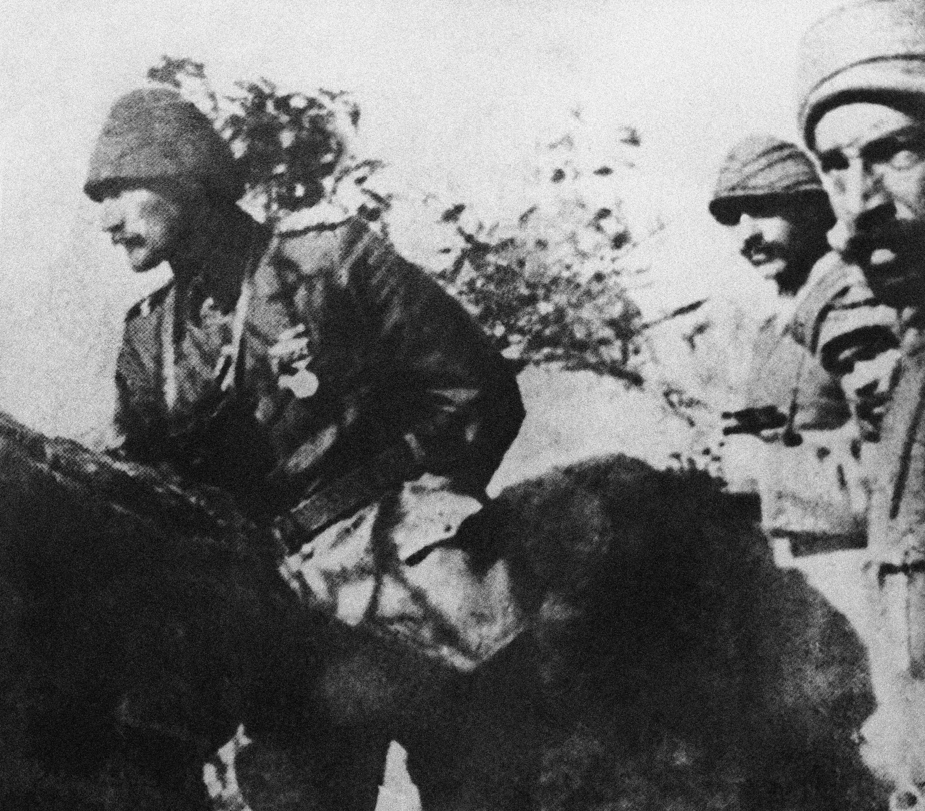 33 OF 100: In this 1915 file photo, Mustafa Kemal Ataturk, military commander of the Turkish troops in Gallipoli, Turkey, looks over the battlefield during World War I.