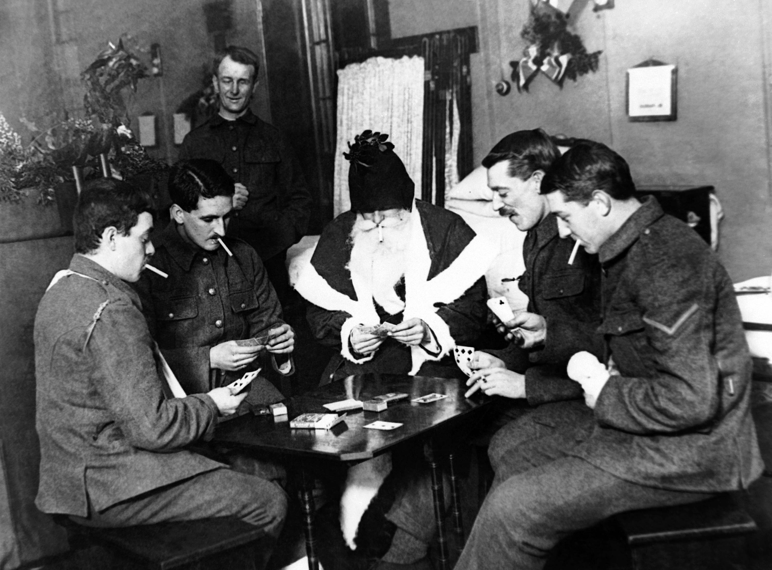 76 OF 100: In this undated file photo, wounded World War I soldiers play a game at a London hospital.