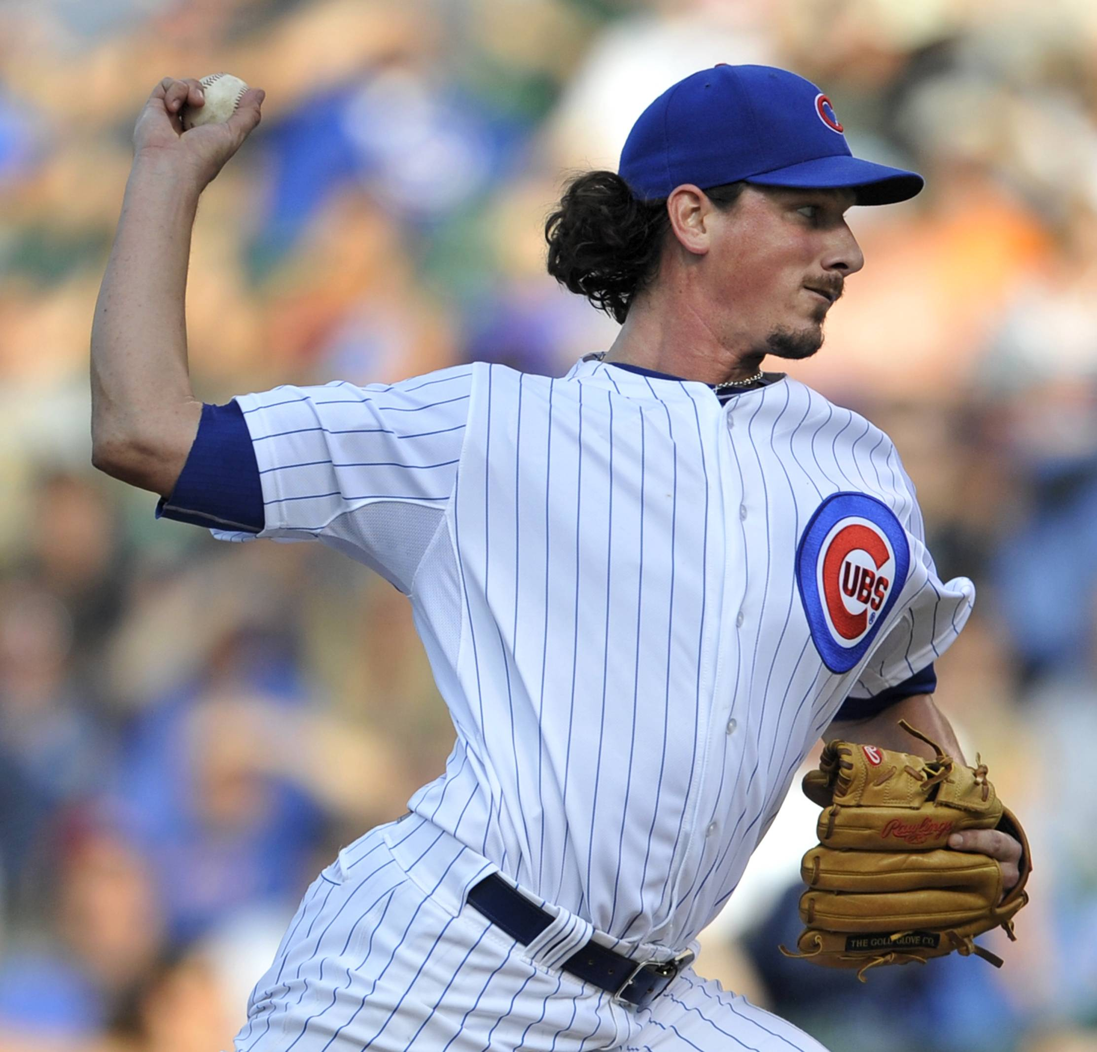 Jeff Samardzija delivers a pitch during the first inning of the second game of a day-night doubleheader against the Nationals on Saturday.