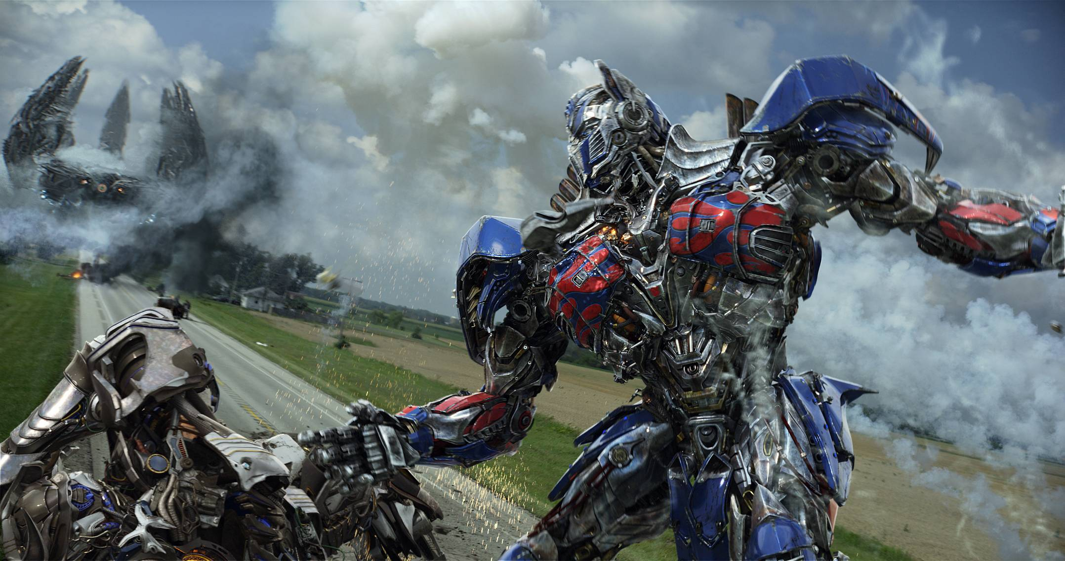"Optimus Prime fights the Decepticons once again in ""Transformers: Age of Extinction."""