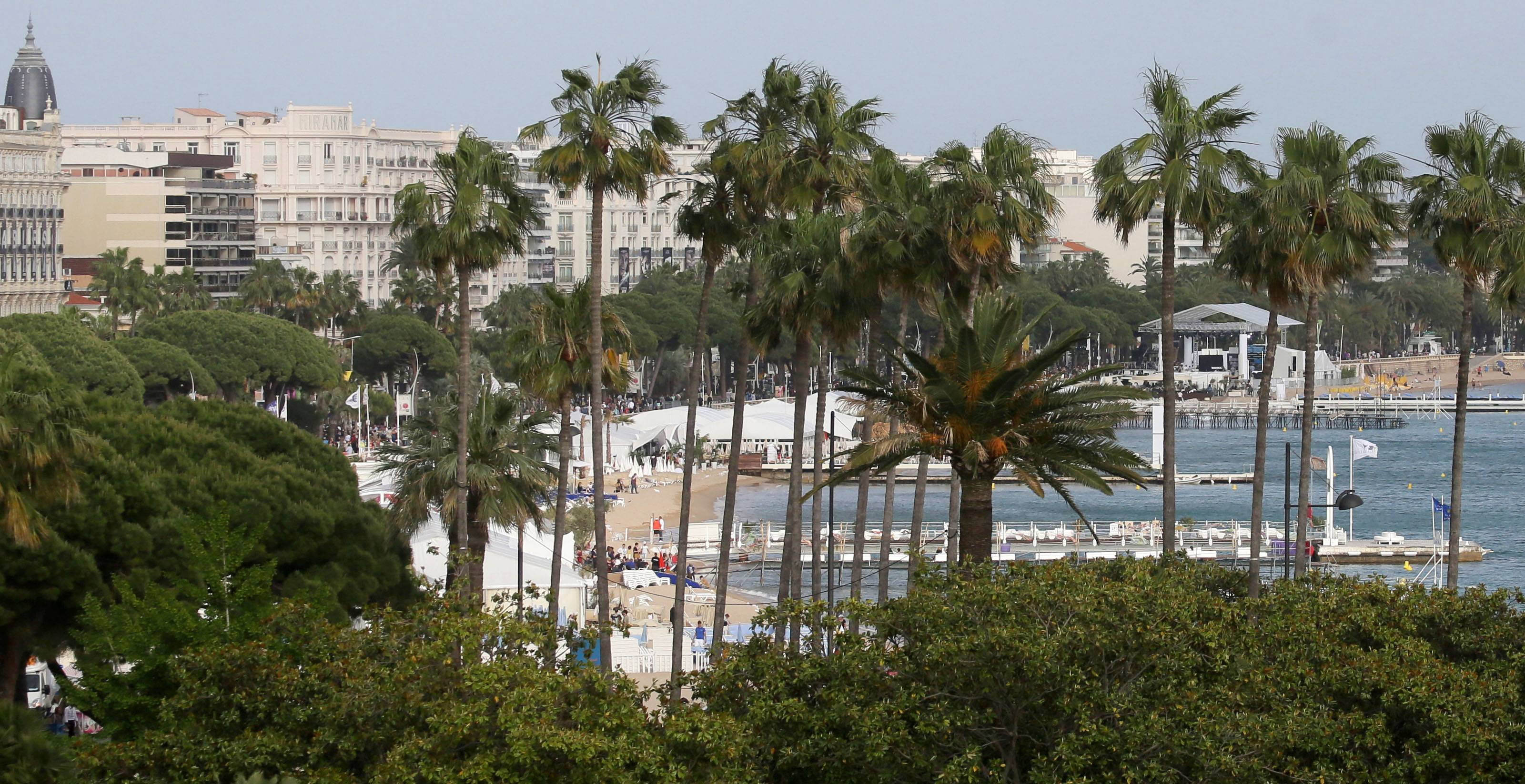 Some of the beaches near the Croisette in Cannes, southern France, are free.