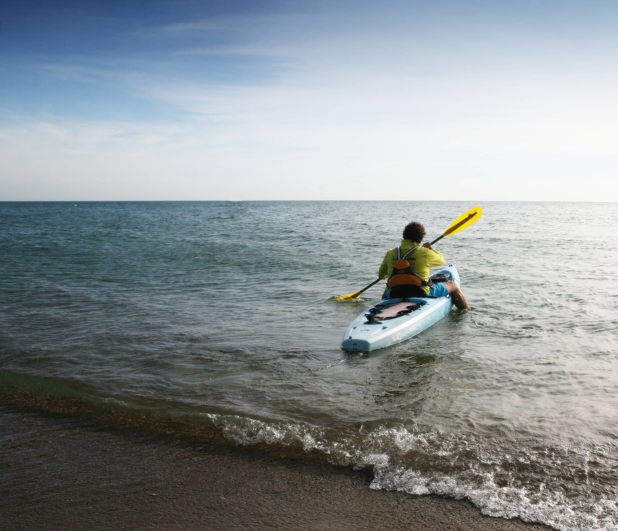 "Kayaking for hours in open water is ""very easy,"" says Barrington's Don Macdonald. He was scheduled to swim the English Channel when a near-fatal heart problem changed his plans."