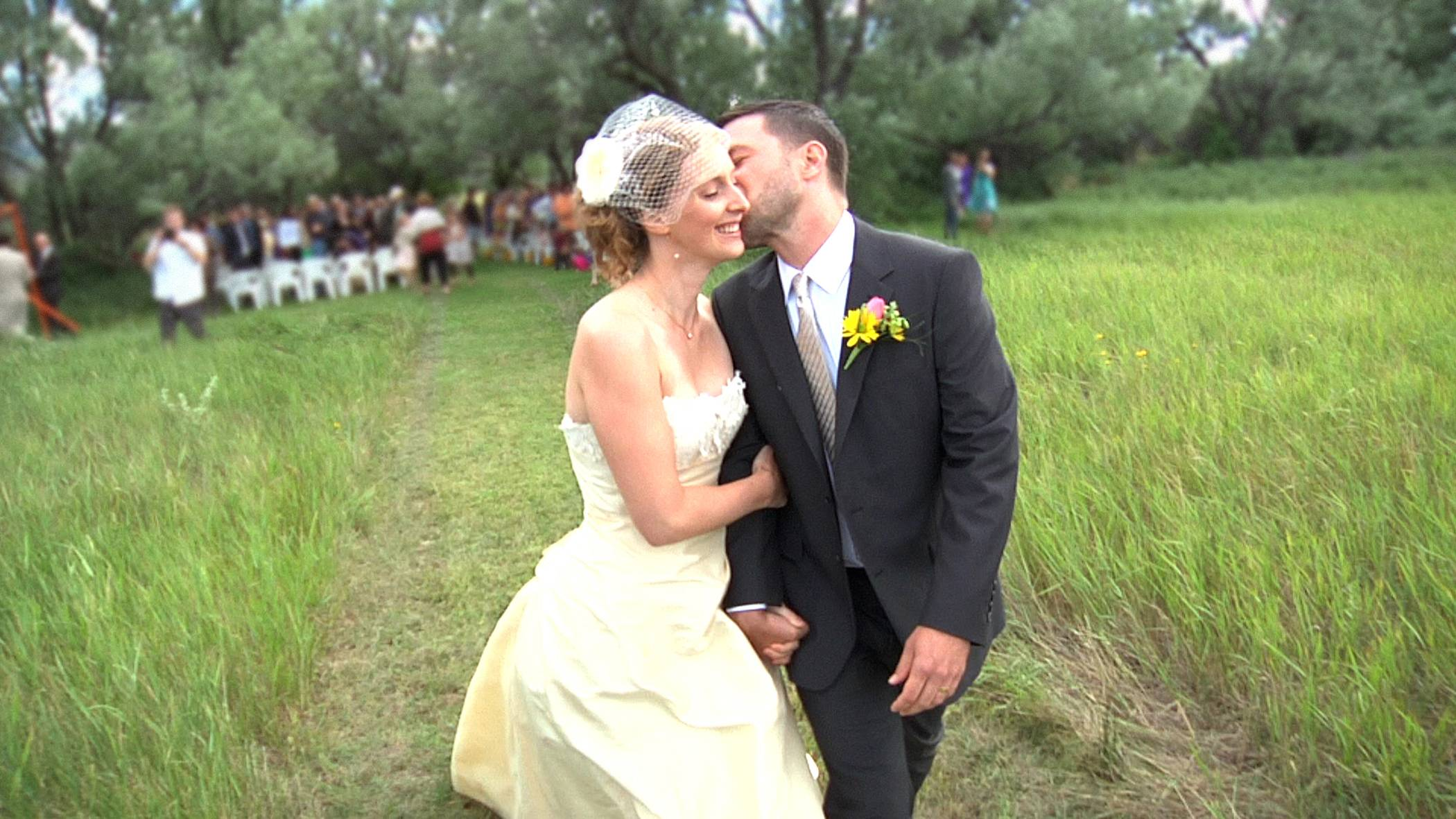 "Heather and Sam Dodge on their wedding day in Helena, Mont., is shown in the documentary ""112 Weddings,"" debuting at 8 p.m. Monday on HBO."