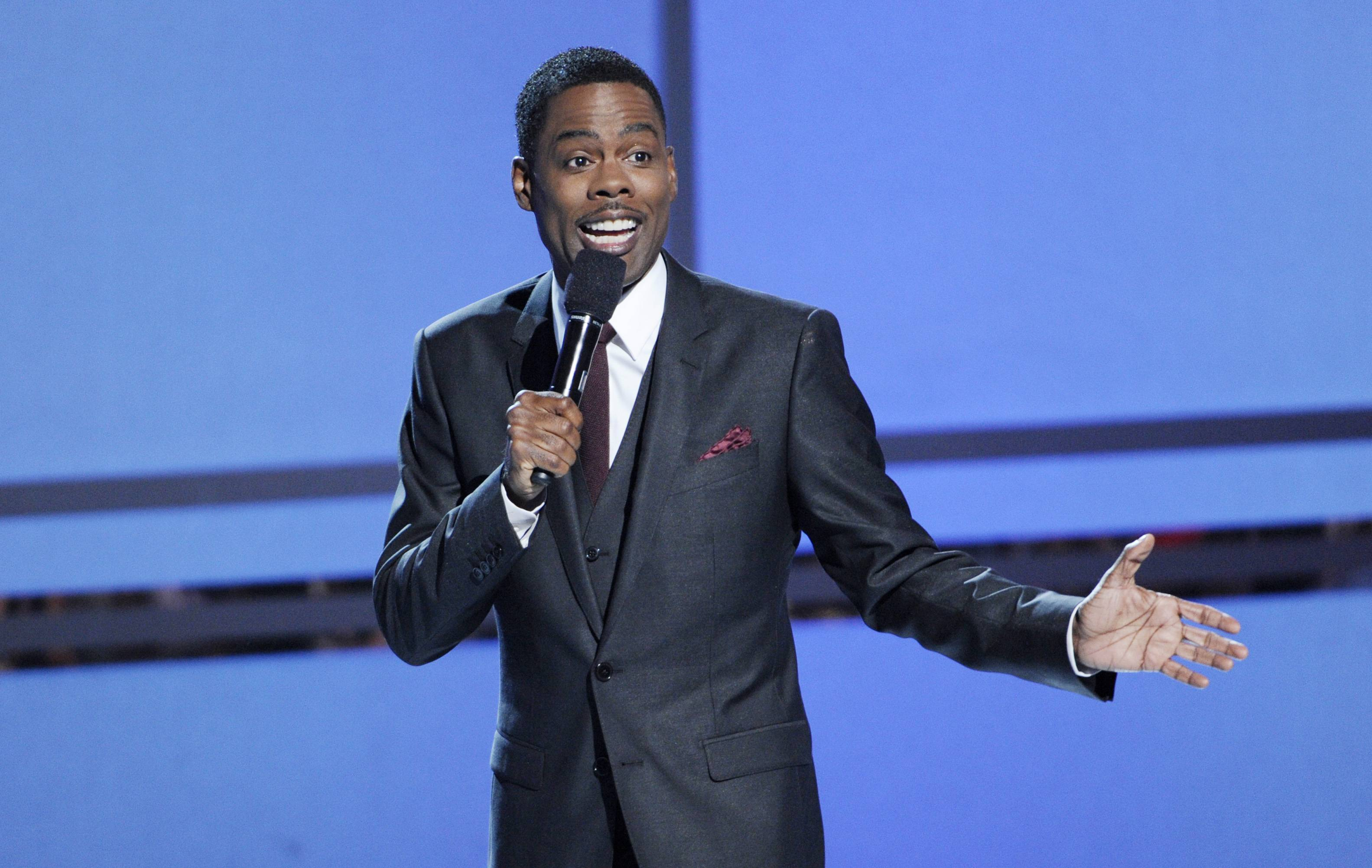 Chris Rock hosted the four-hour BET Awards at the Nokia Theatre on Sunday.