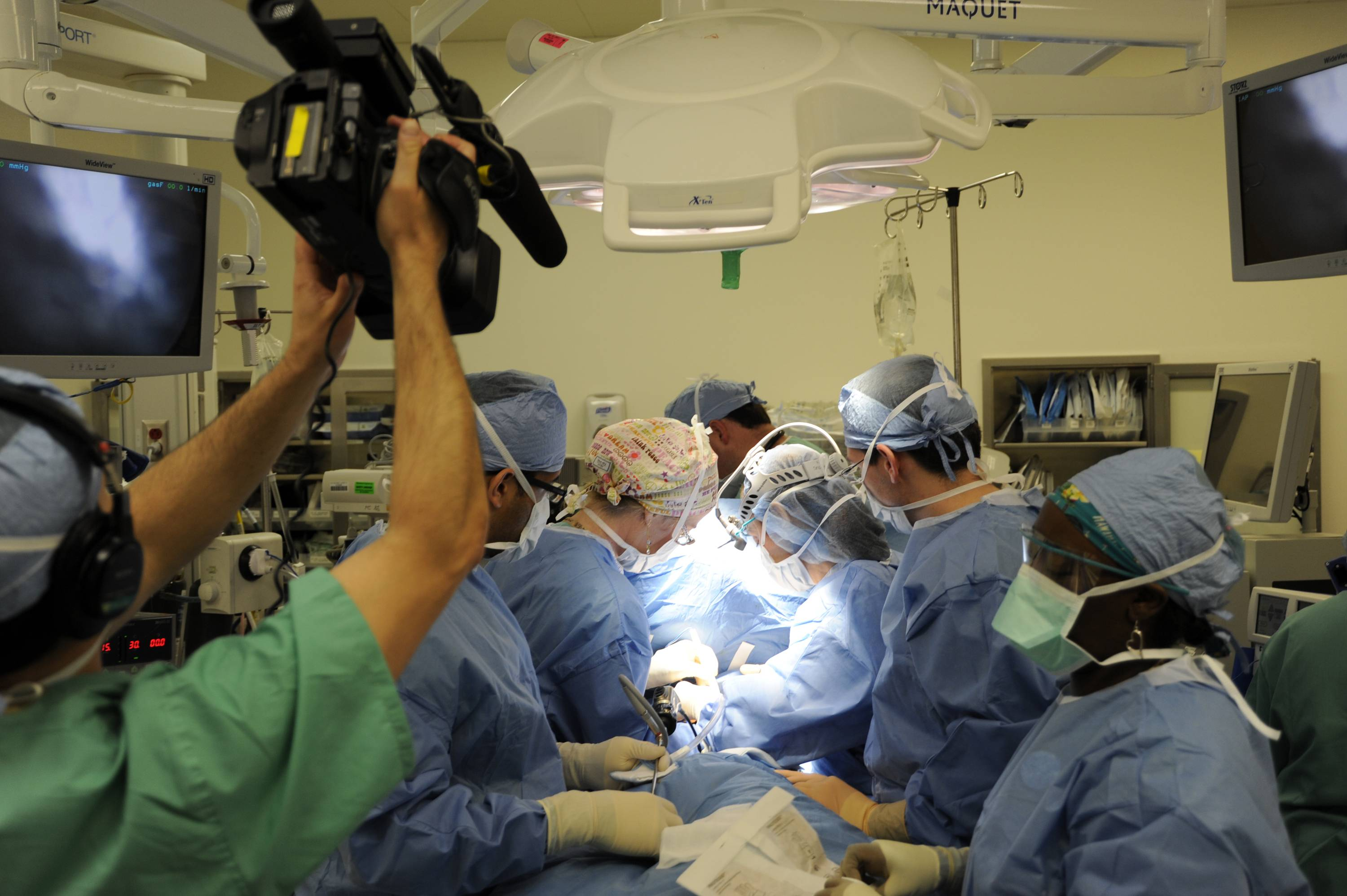 "A cameraman records a medical procedure in an operating room in a scene from the latest season of ""NY Med."""