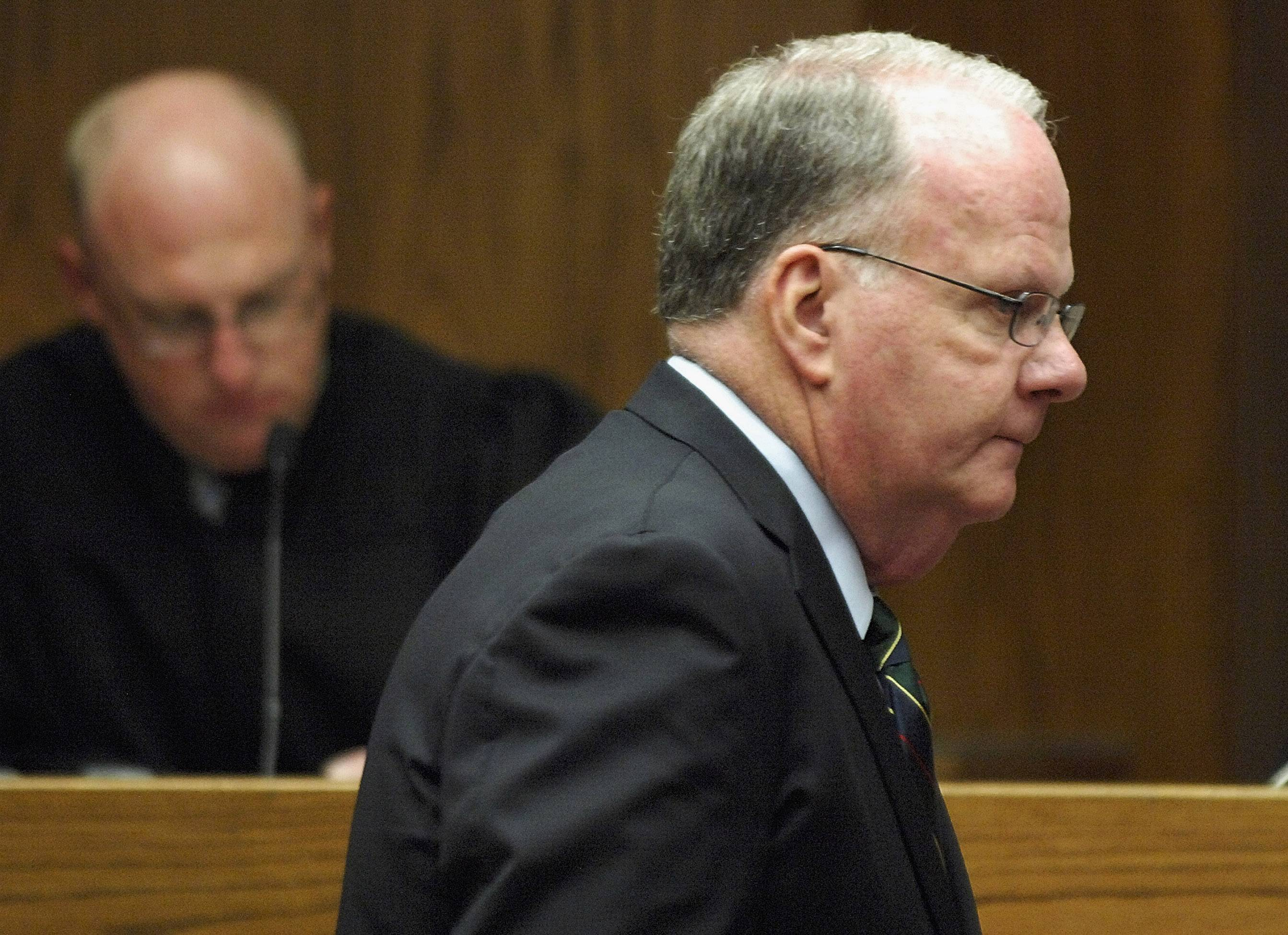 Associated Press/April 23, 2014 Former Illinois State University President Timothy Flanagan was found guilty of disorderly conduct Monday.