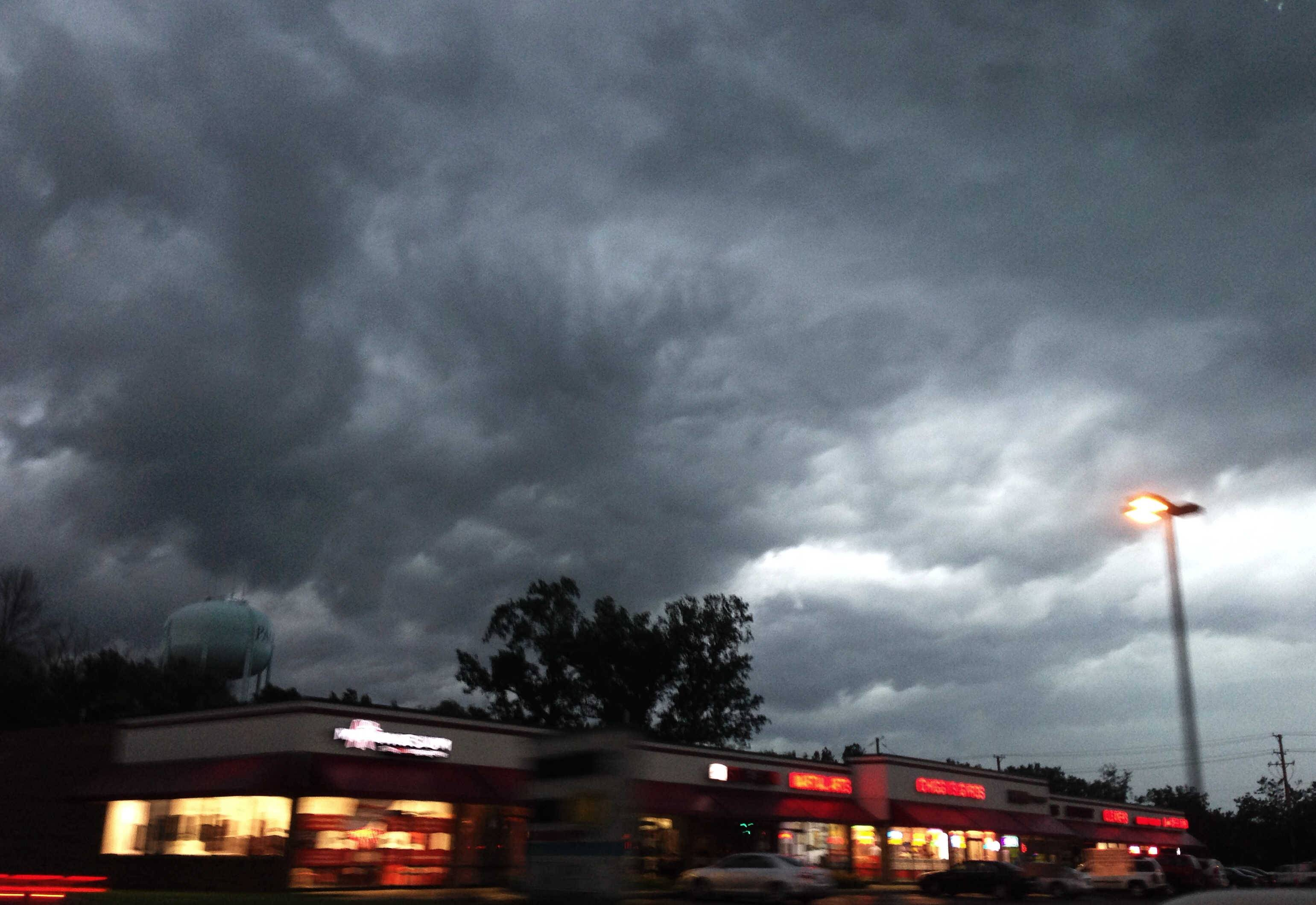 Storm clouds roll into Palatine Monday night.