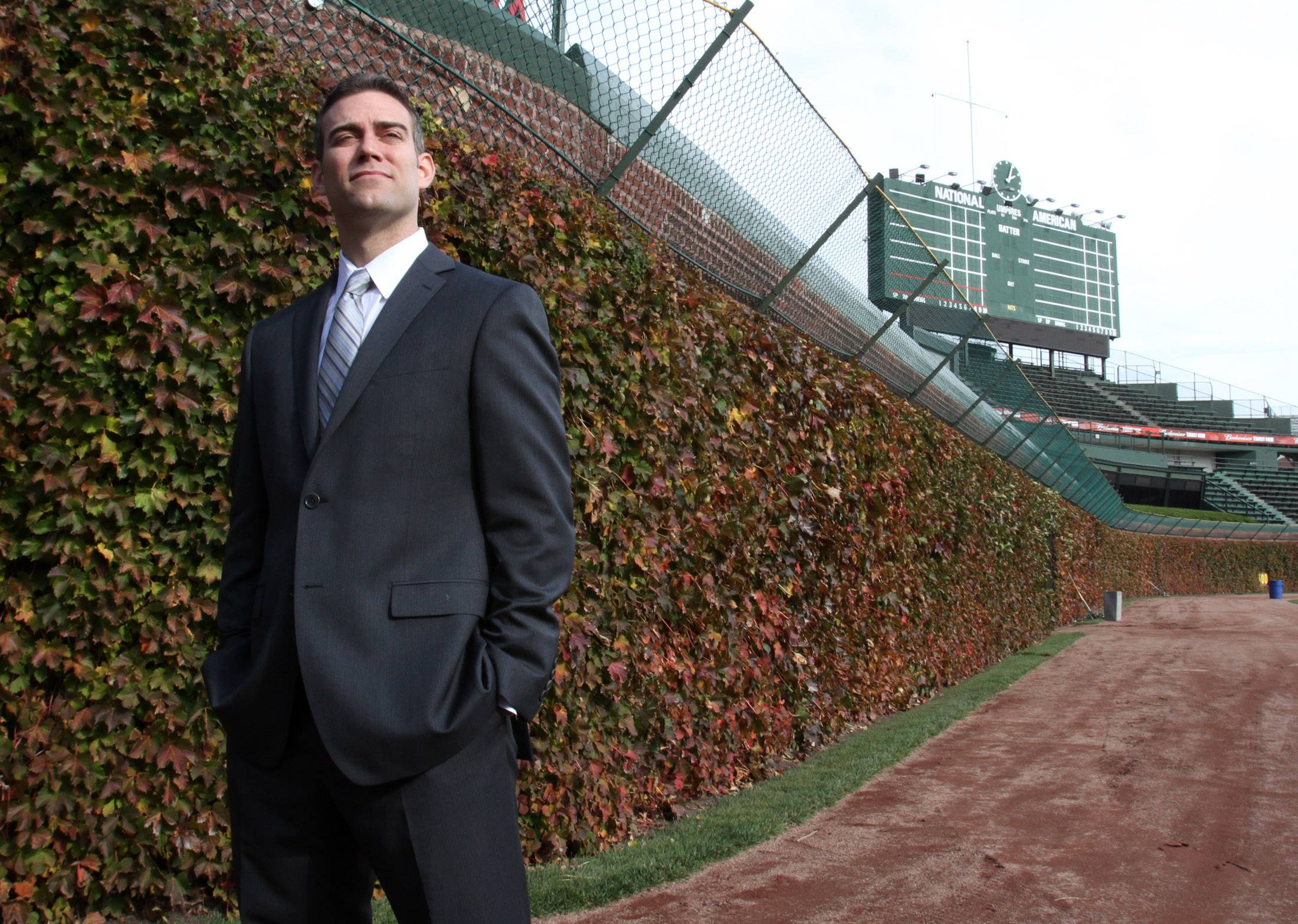 "Theo Epstein, Chicago Cubs president of baseball operations, tells sports writer Bruce Miles that while he was surprised at how ""massive"" Chicago is, he does feel at home here. ""I'm a lucky guy. I can call two of the great cities in the world home,"" Epstein says."