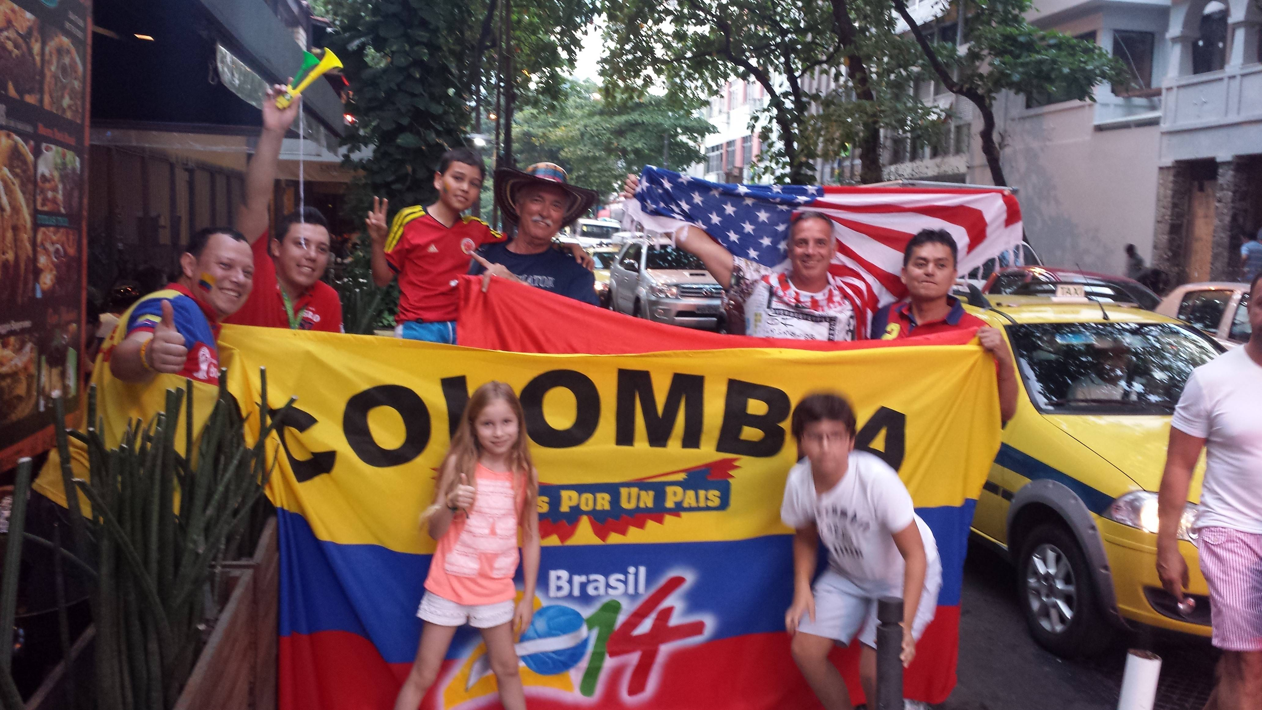 Everywhere you go in Brazil, fans proudly wear or show the colors of their country and favorite team.