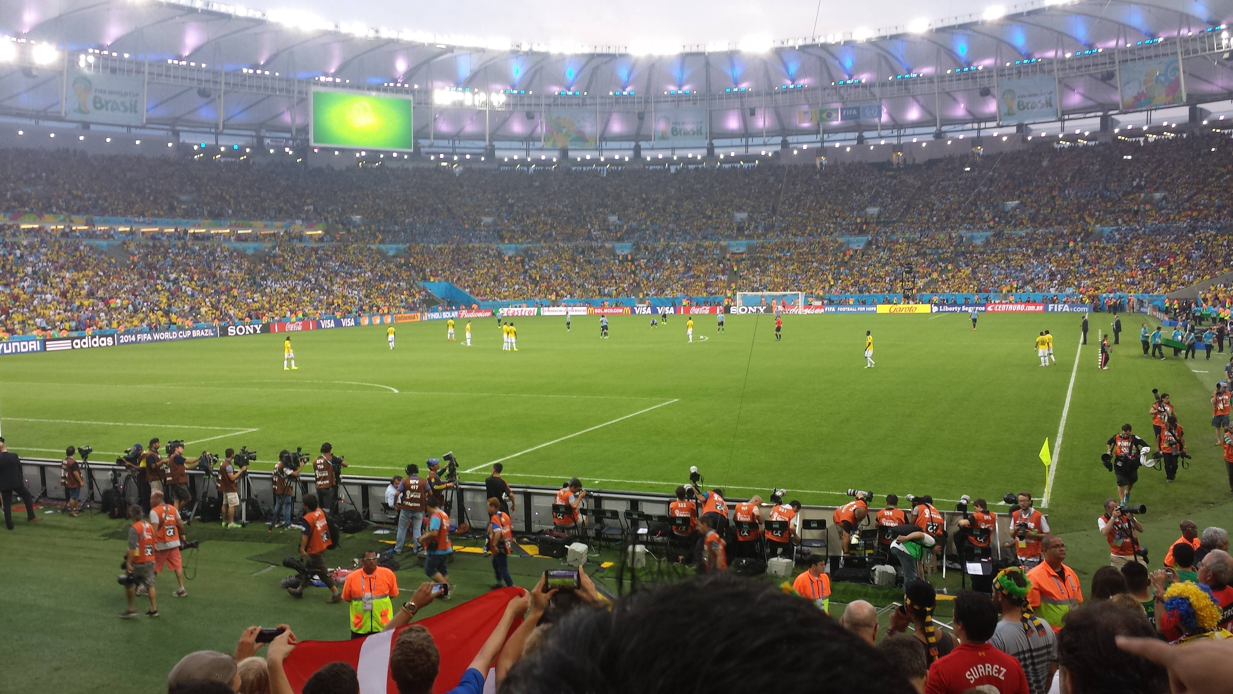 For his final World Cup experience in Brazil, Mike Taylor witnessed the game between Uruguay and Colombia.