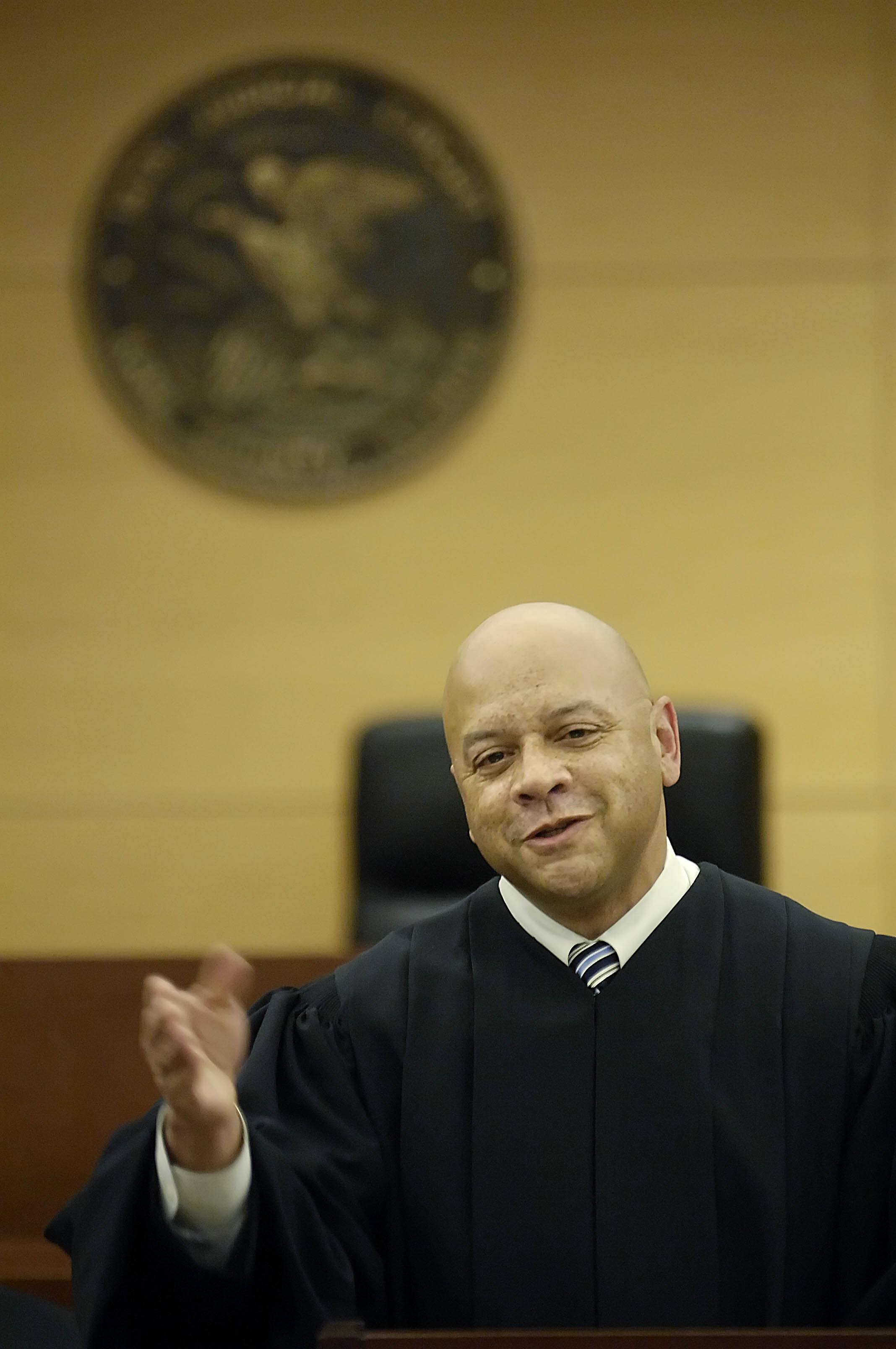 Kane County Judge F. Keith Brown speaks after taking his oath in 2009 as the 16th Judicial Circuit's chief judge.