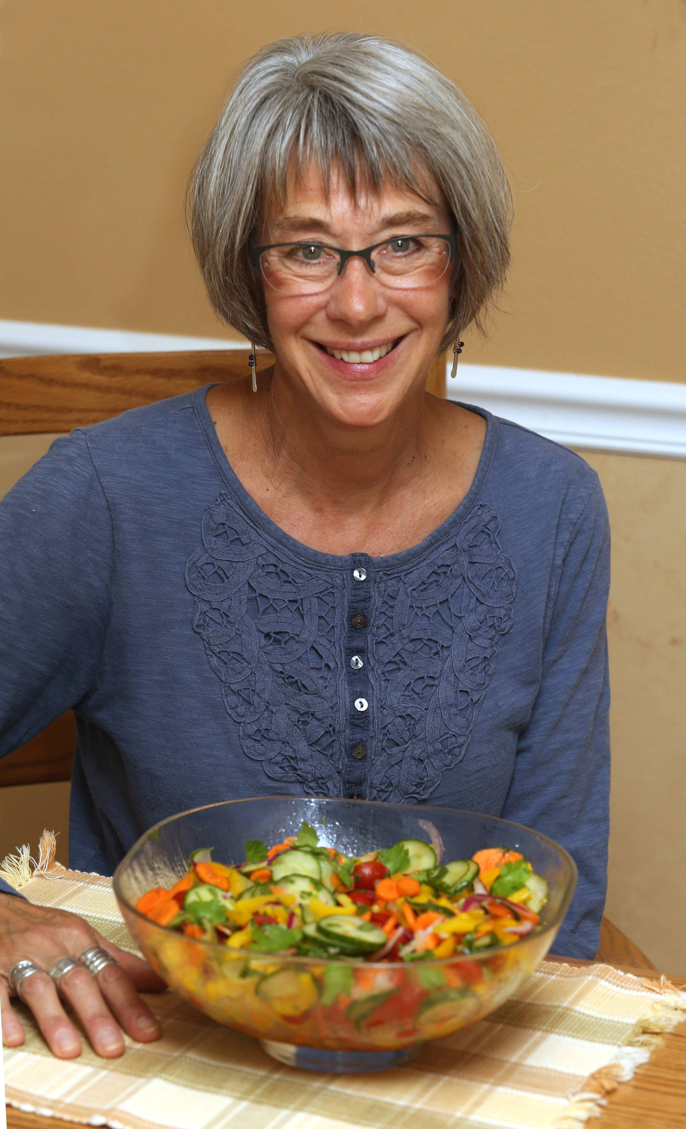 Linda Lenhardt likes the make-ahead appeal of her Cucumber Vegetable Salad with Cilantro.