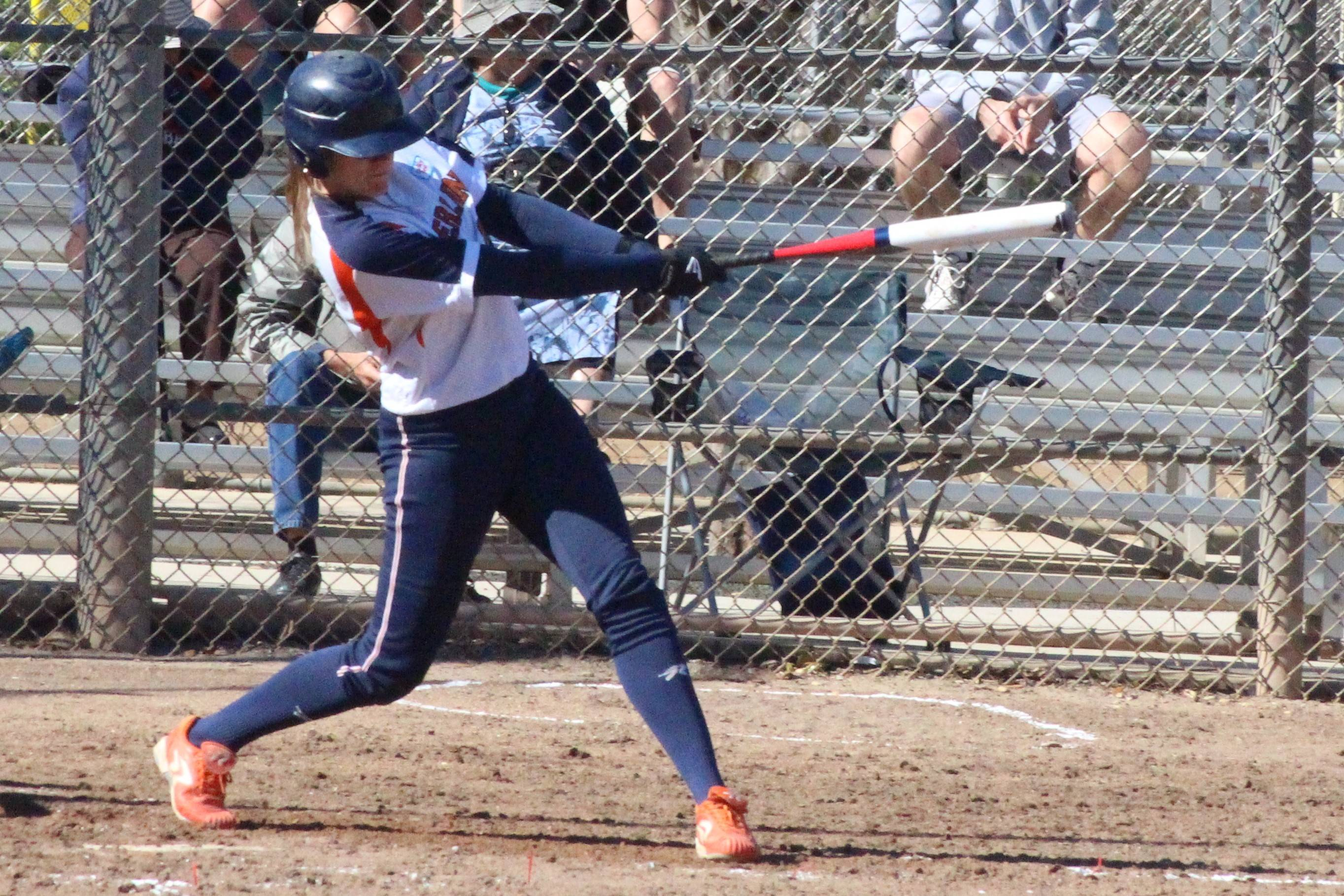 First baseman-center fielder Saskia Kosterink is among the top players on the Netherlands national softball team playing in Elgin this weekend at the John Radtke Memorial Women's Fastpitch Softball Tournament. The team is prepping for the world championships next month.