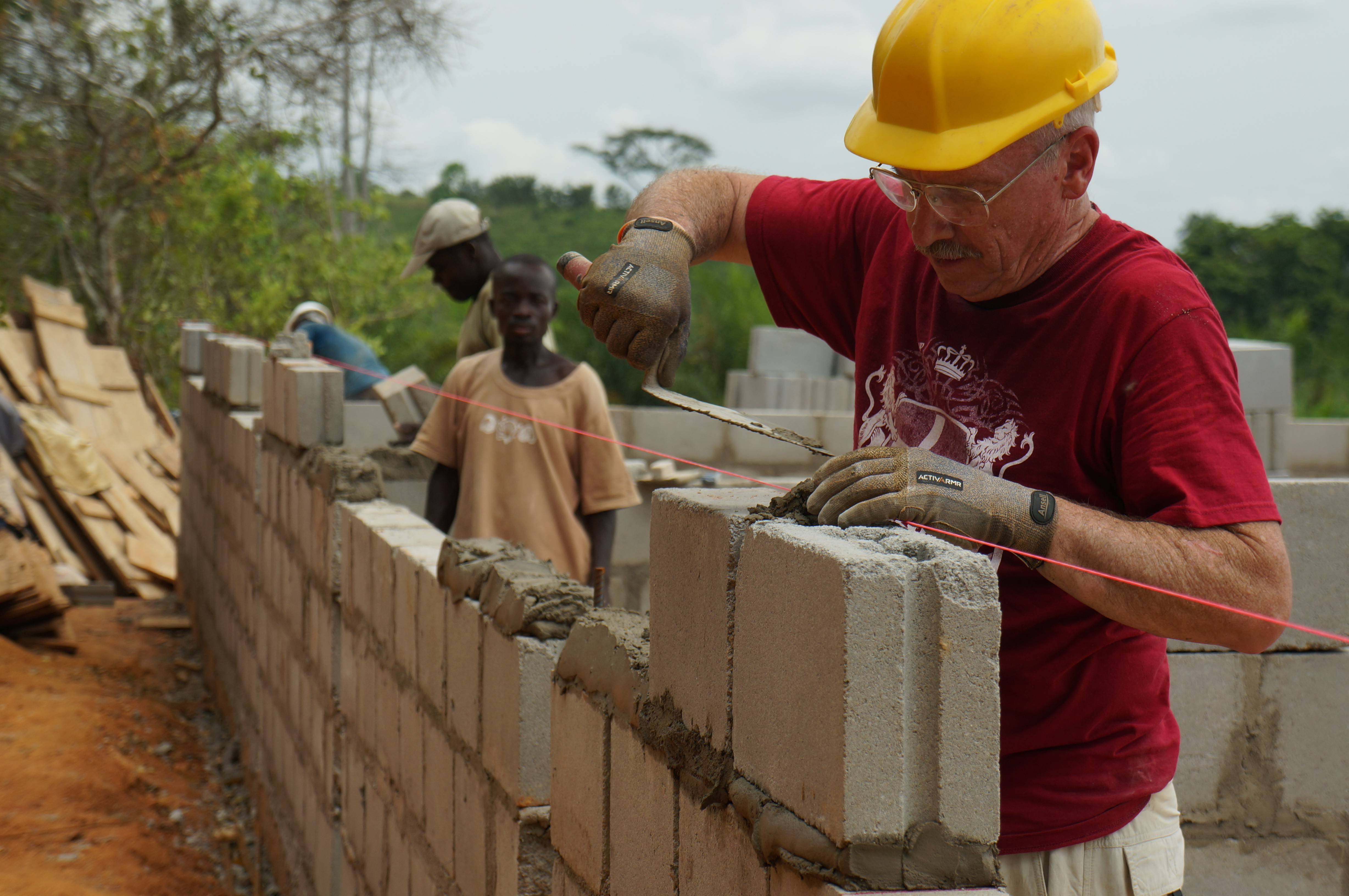 Mac Gregory of Elgin, a volunteer with Elgin-based Two Pennies Ministry, helps build an orphanage in the Cape Coast region of Ghana. The project is supported by sixth-grade gifted students of Sycamore Trails Elementary School in Bartlett.