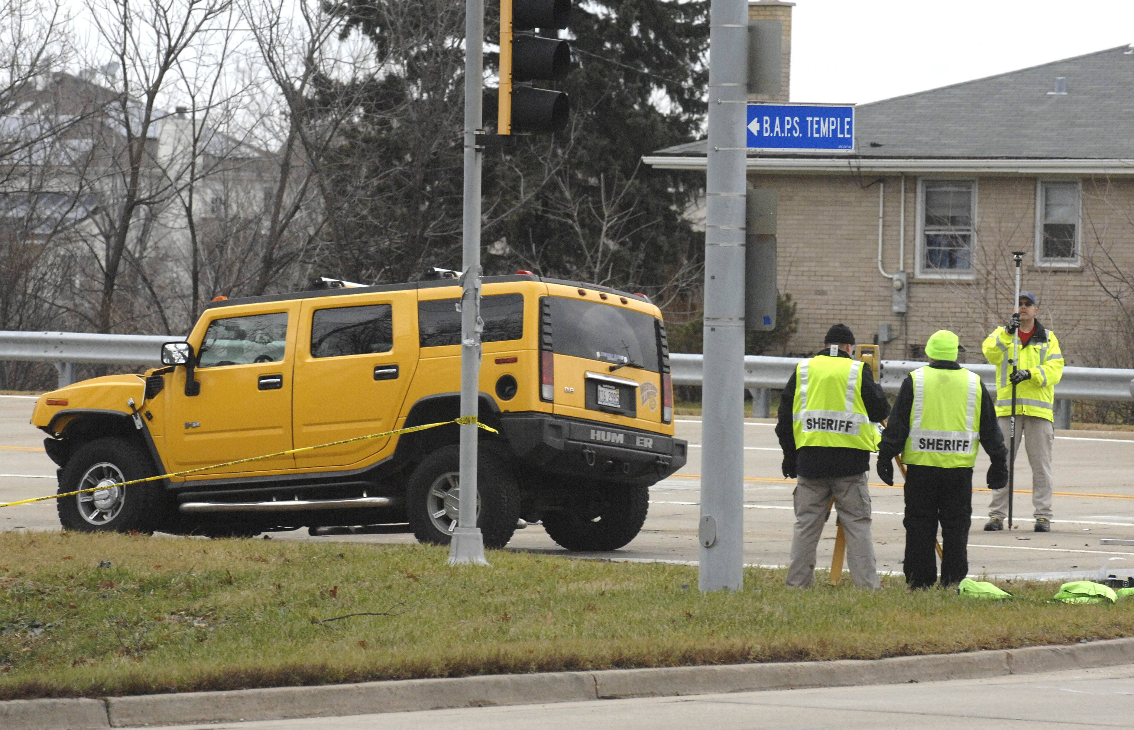 A 21-year-old Wayne man, Rick Judge, was found guilty Tuesday of charges related to a fatal accident in December 2011 near Bartlett that claimed the life of a Hanover Park man. Judge was driving this yellow Hummer when the crash occurred.