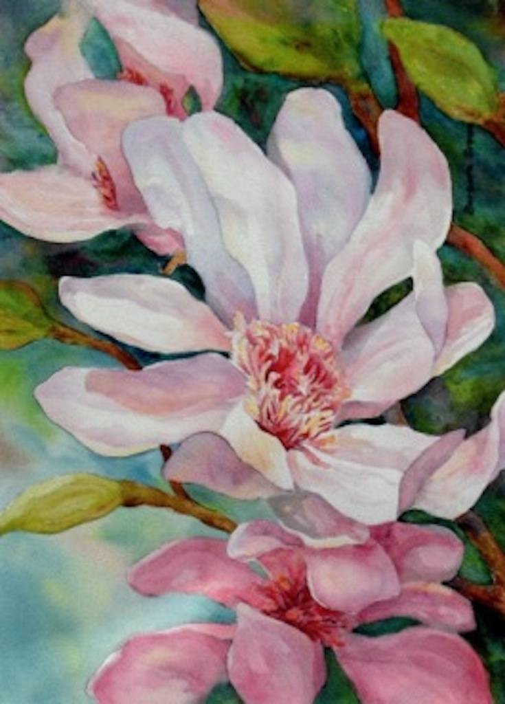 "The Fine Line Creative Arts Center in St. Charles will feature work from The Woodstock Group, including ""Barb's Floral"" by Barbara Brown, at the exhibit July 12-Aug. 18."