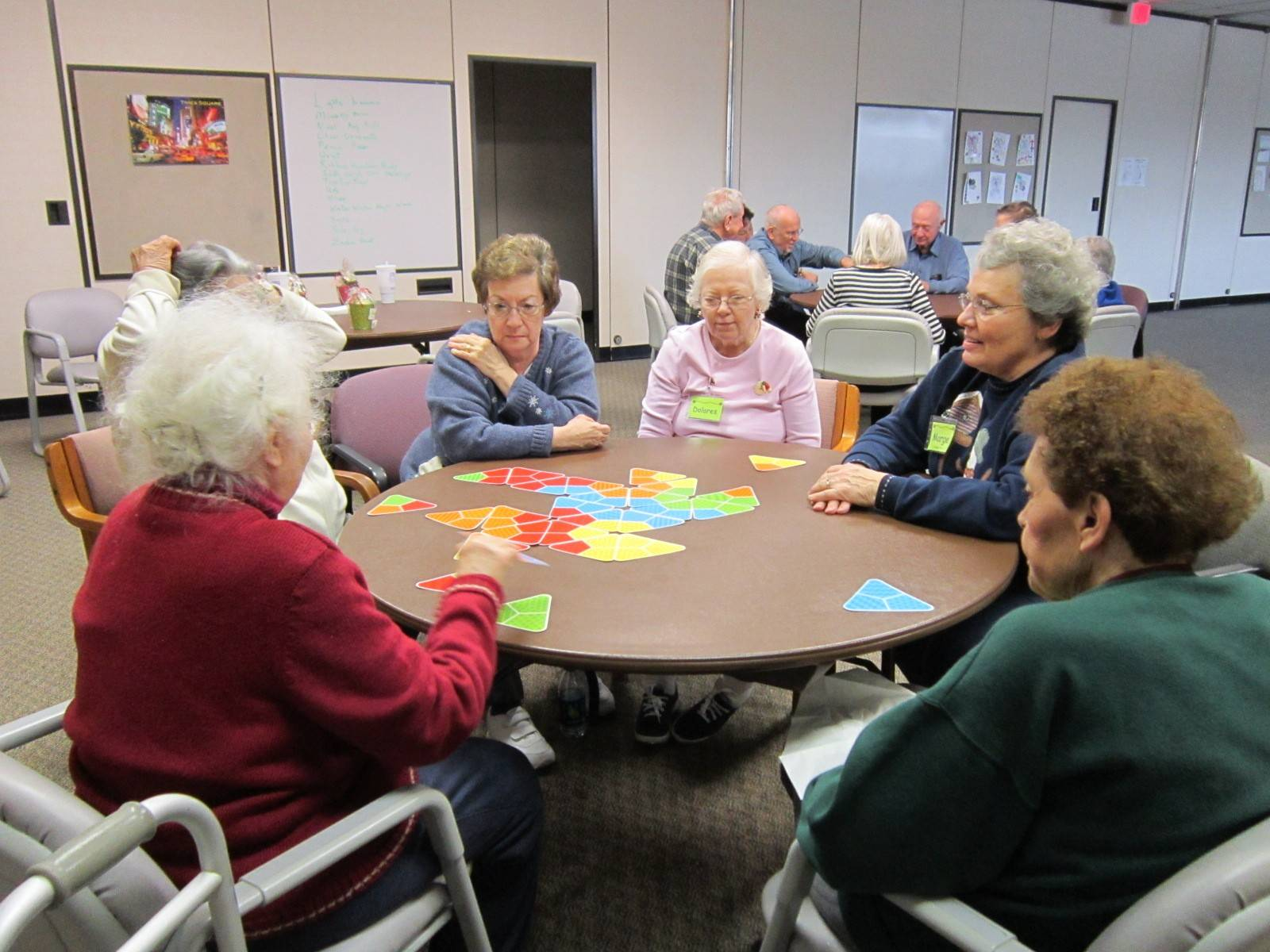 Card and board games are among the social activities participants enjoy at Christus Victor Lutheran Church's A Caring Place.