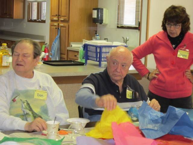 Offering respite to caregivers, A Caring Place at Christus Victor Lutheran Church offers participants a variety of engaging activities including crafts, Wii Bowling and more.
