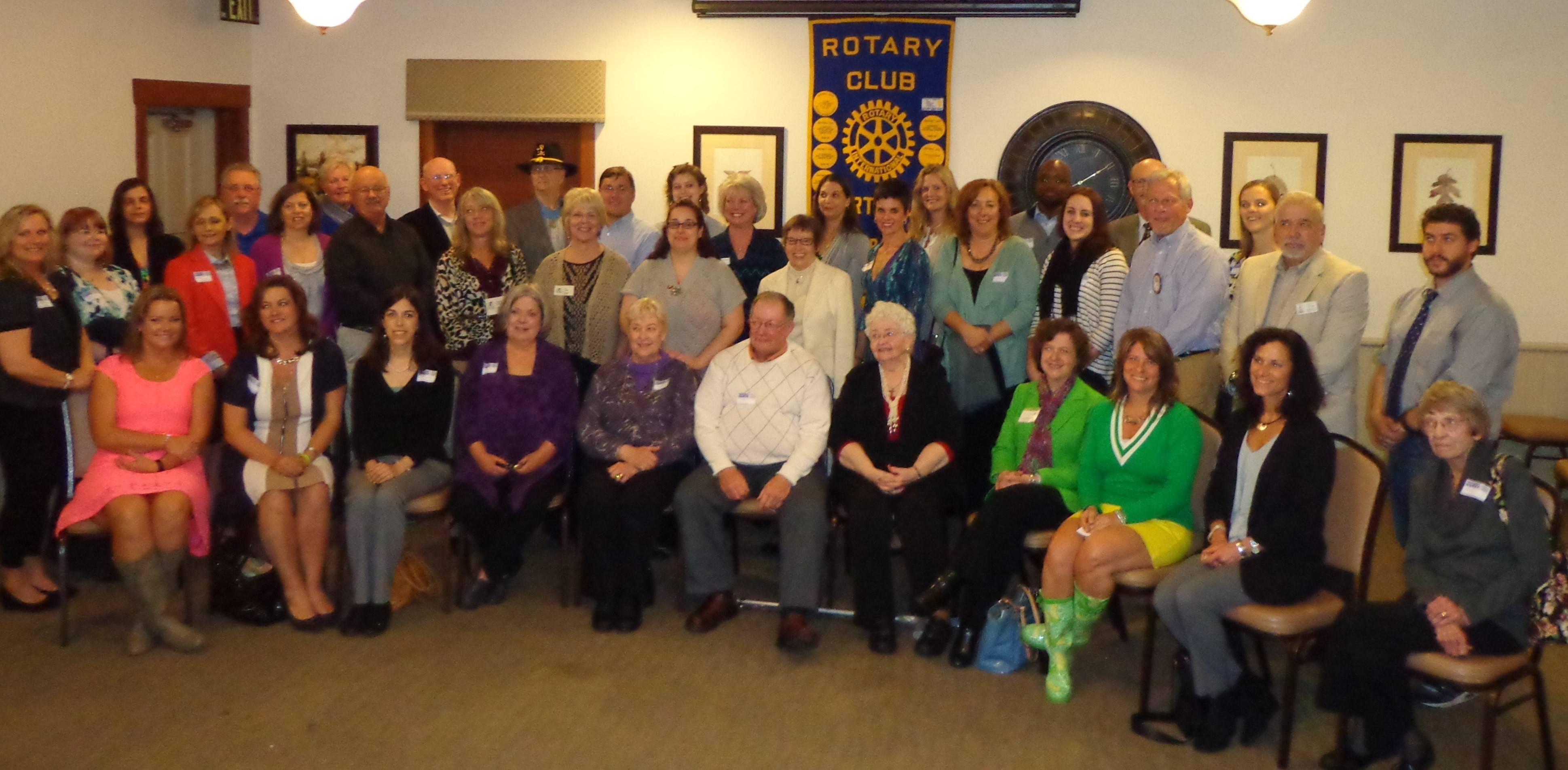 Libertyville Sunrise Rotary recently honored representatives from 33 local charities at its Charitable Giving Dinner at Lamb's Farm.