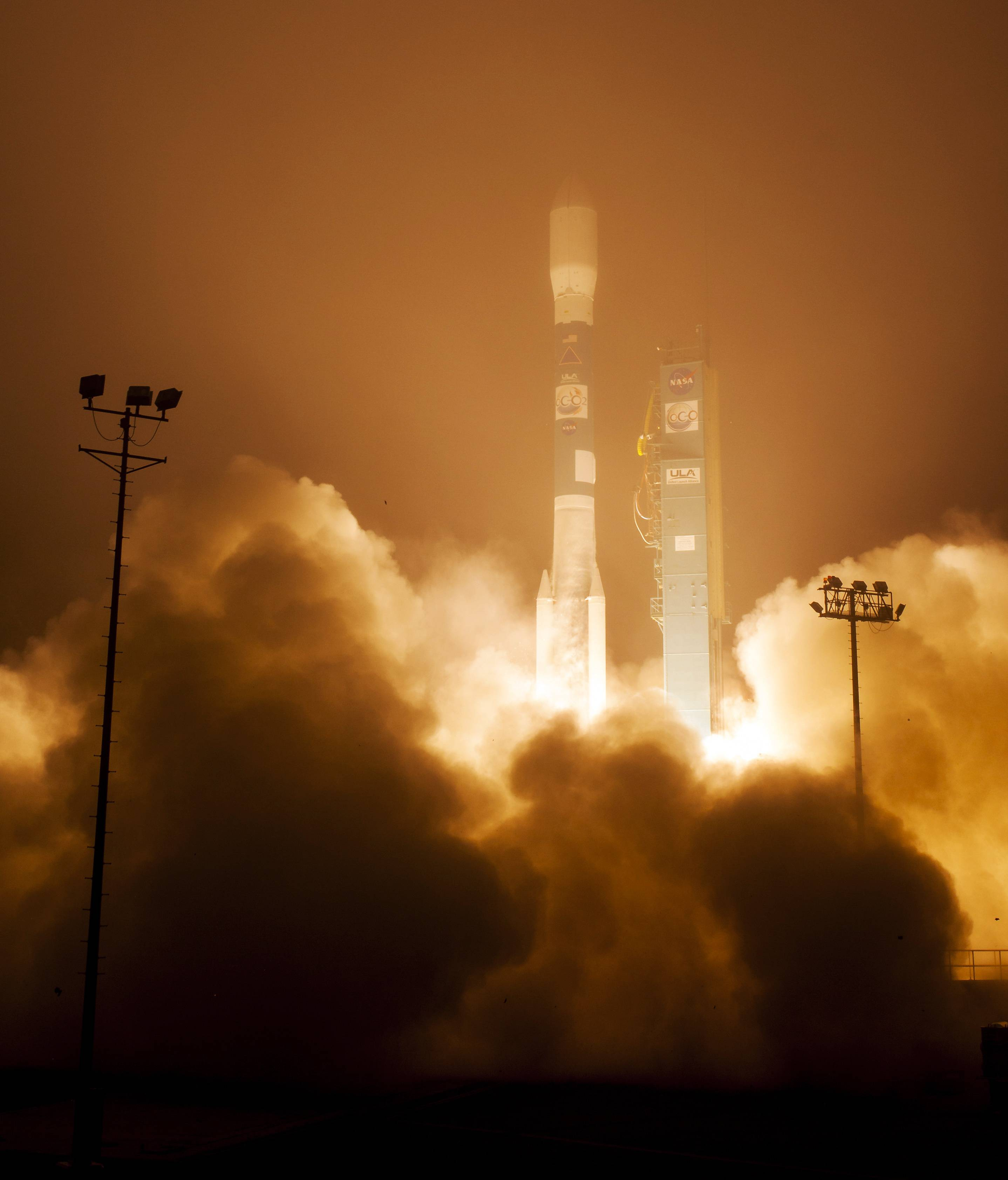 A Delta 2 rocket with the Orbiting Carbon Observatory-2 satellite launches at Vandenberg Air Force Base, Calif., Wednesday morning, July 2, 2014. The goal of the $468 million mission, designed to last at least two years, is to study the processes behind how the environment absorbs carbon dioxide.