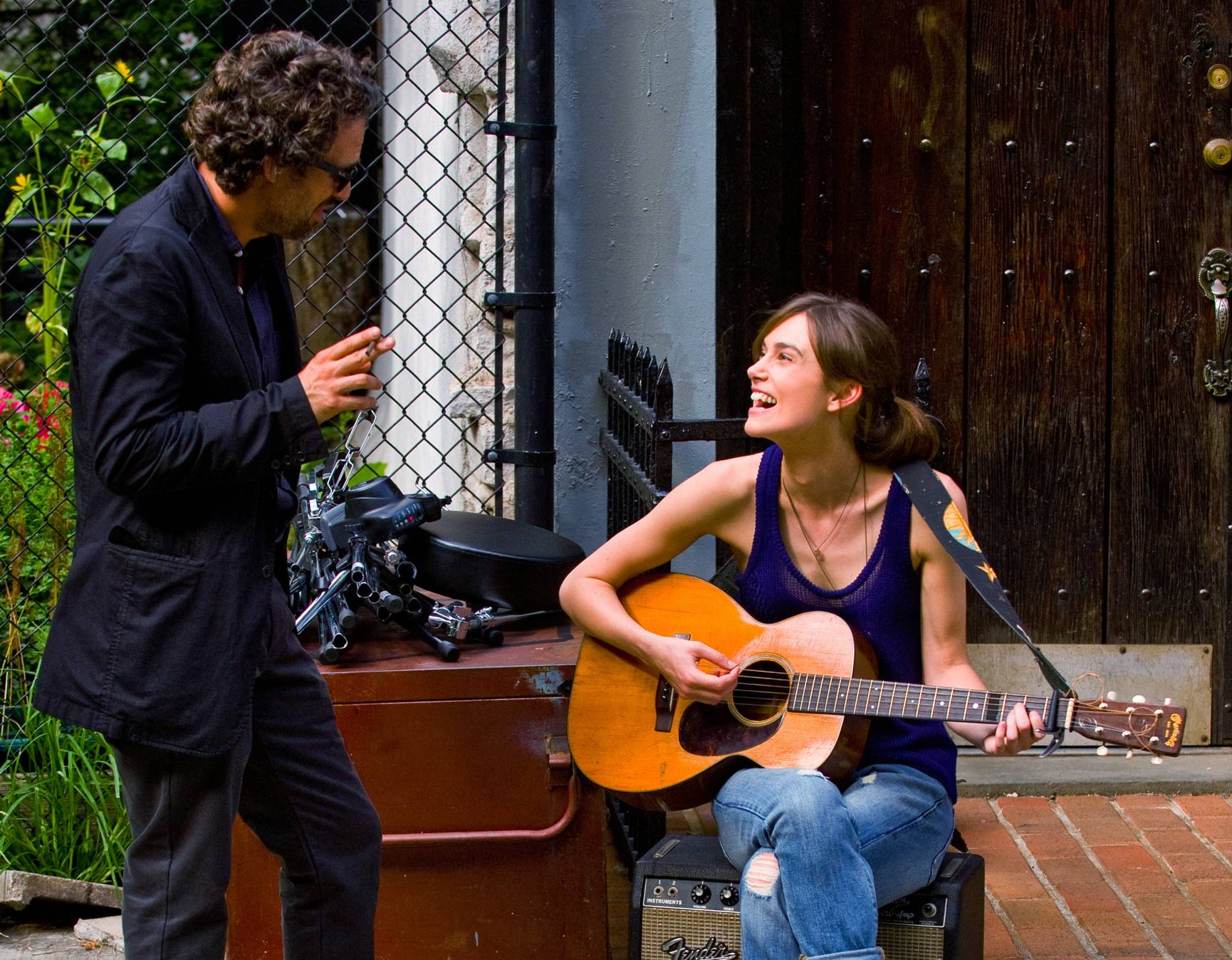 "Two lost souls, Mark Ruffalo and Keira Knightley, come together to make music in ""Begin Again."""