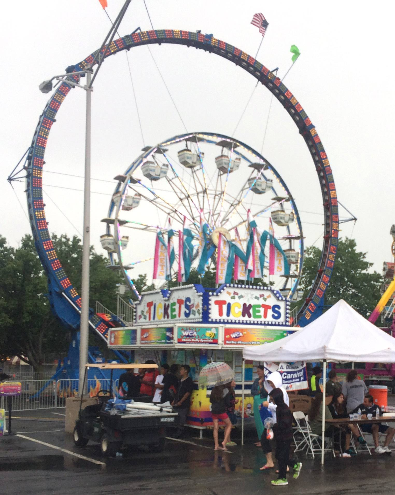 The Palatine Jaycees' 57th Hometown Fest gets underway Wednesday despite some showers.